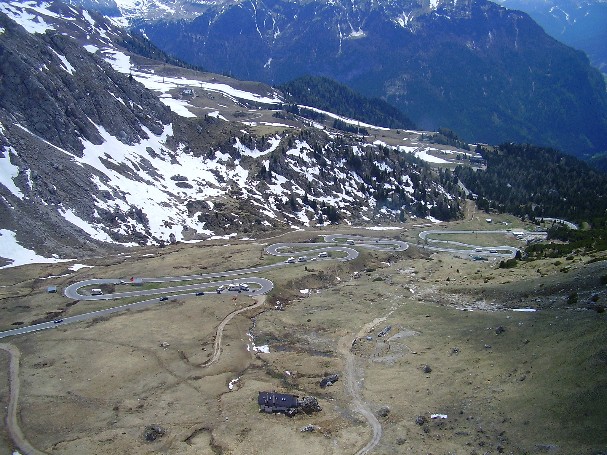 View from Pordoi Pass looking west