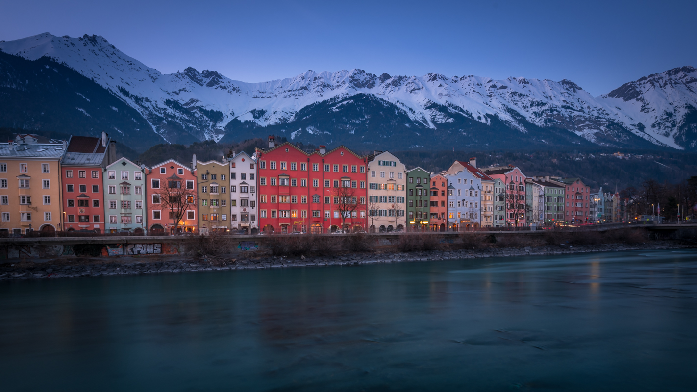 Innsbruck colourful houses