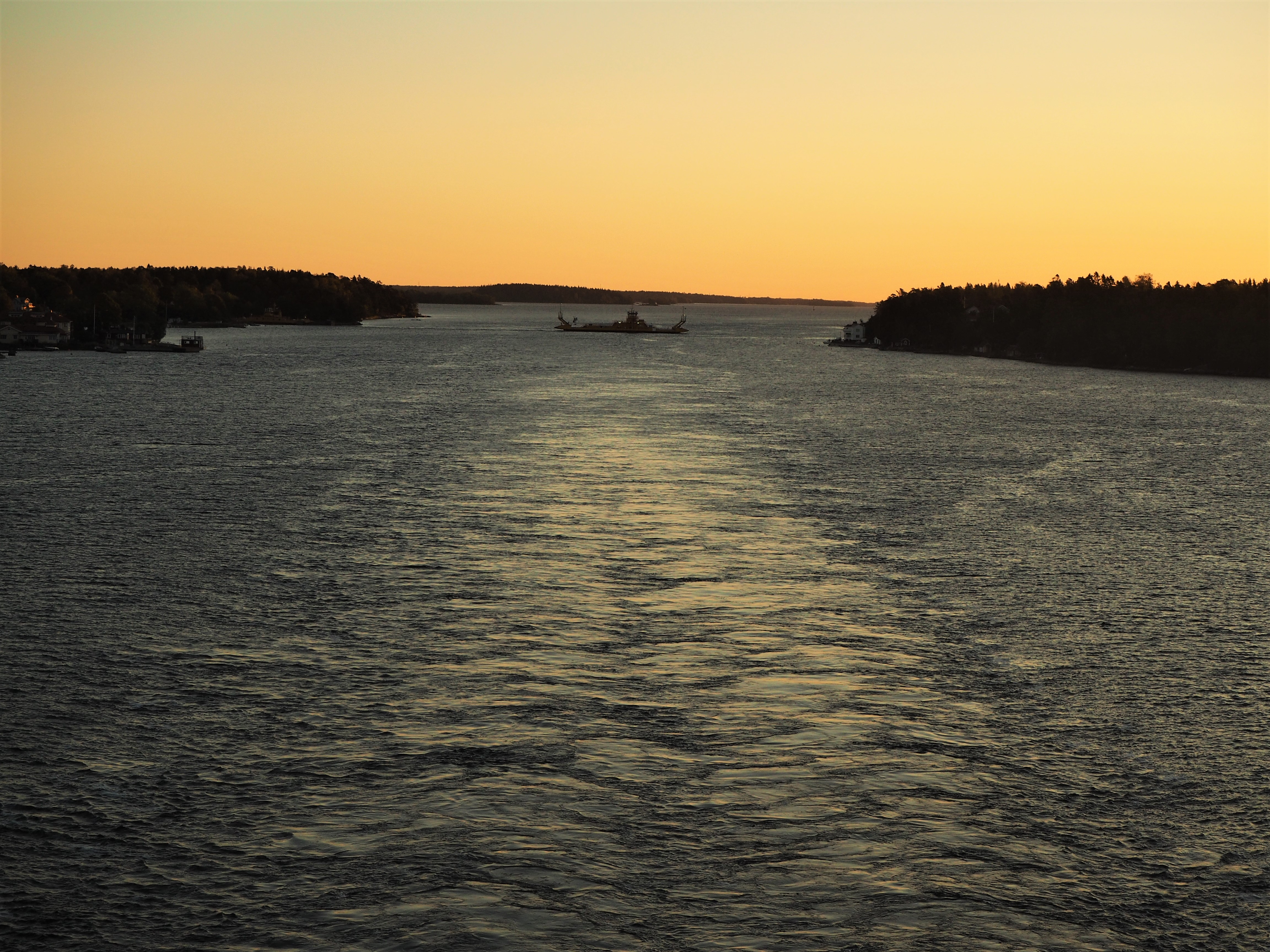 Ferry at daybreak