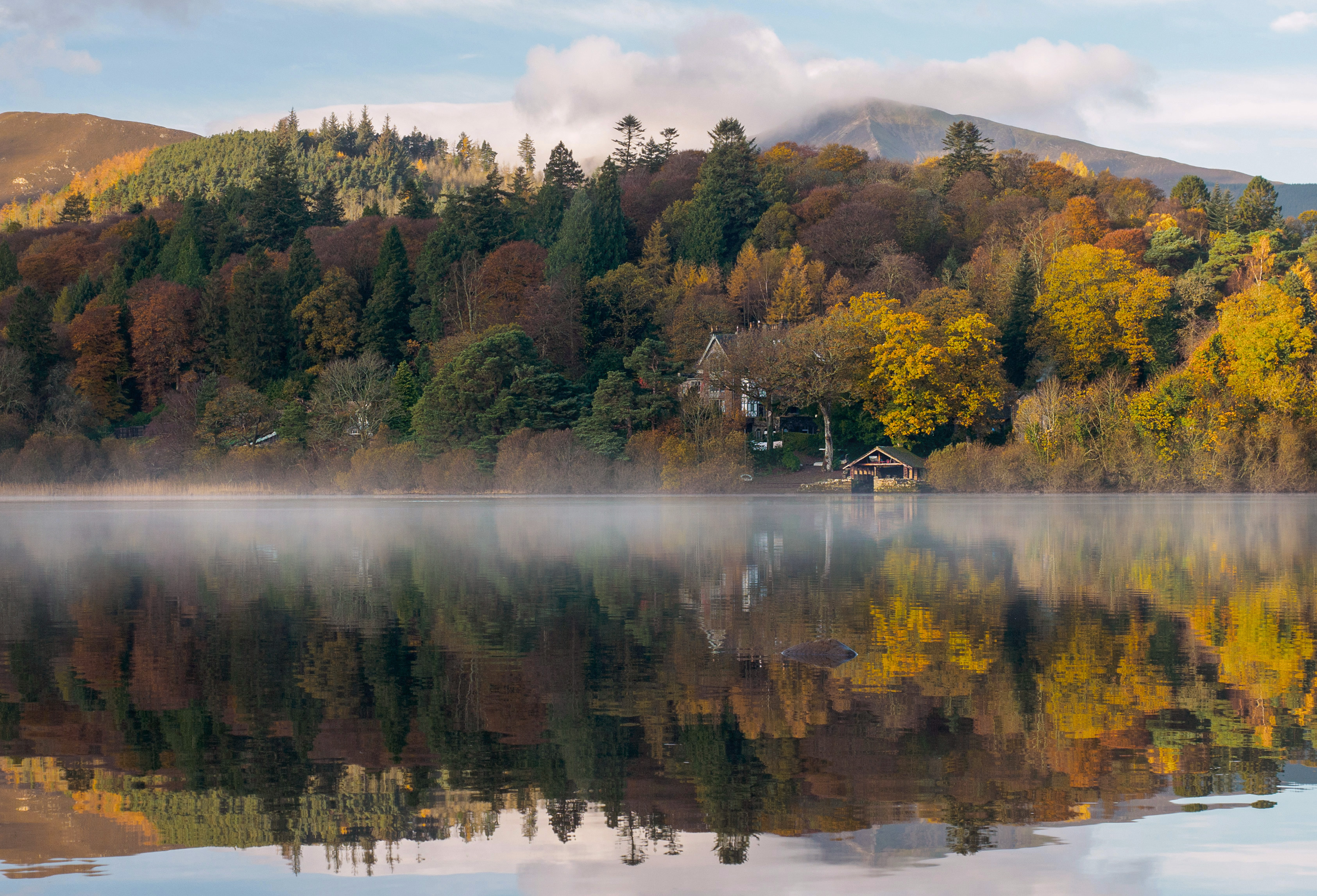 Early Autumn on Derwentwater, Lake District