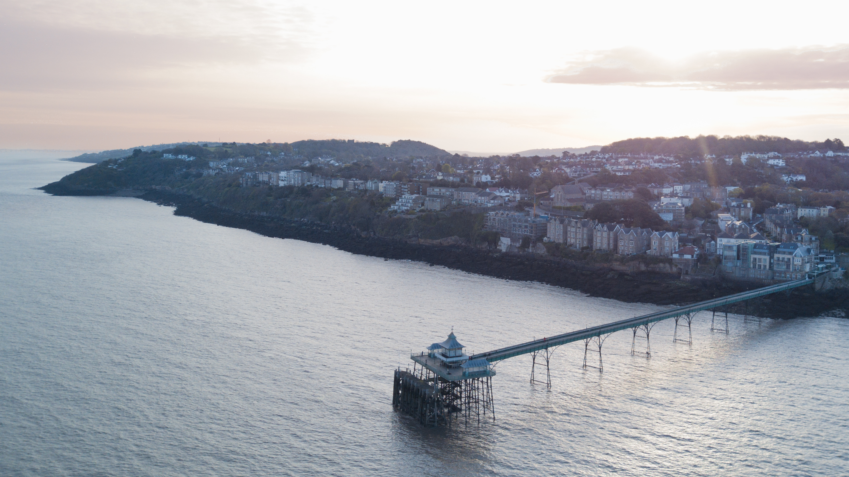 Sunrise over Clevedon and the pier