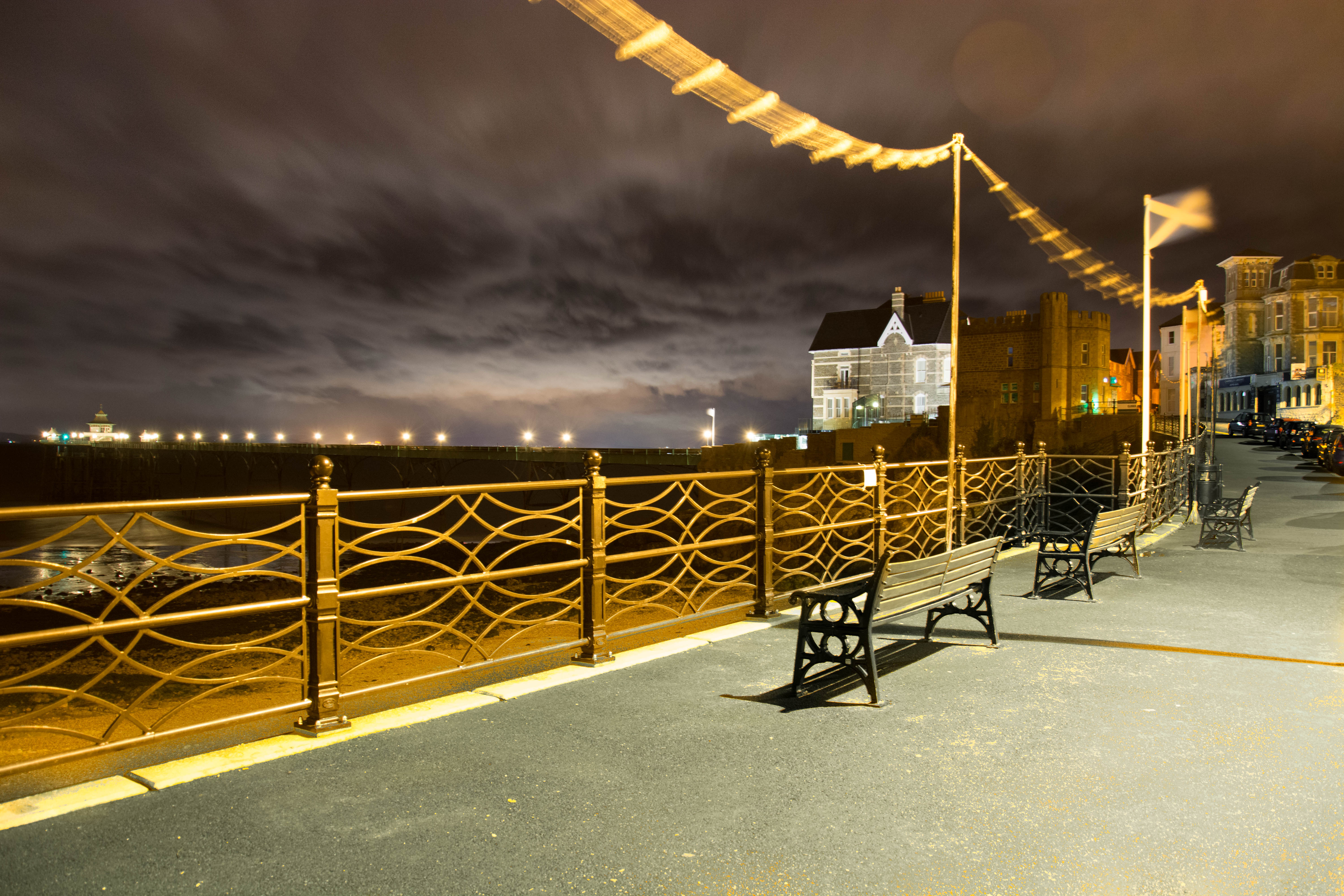 Clevedon Pier on a Winters night