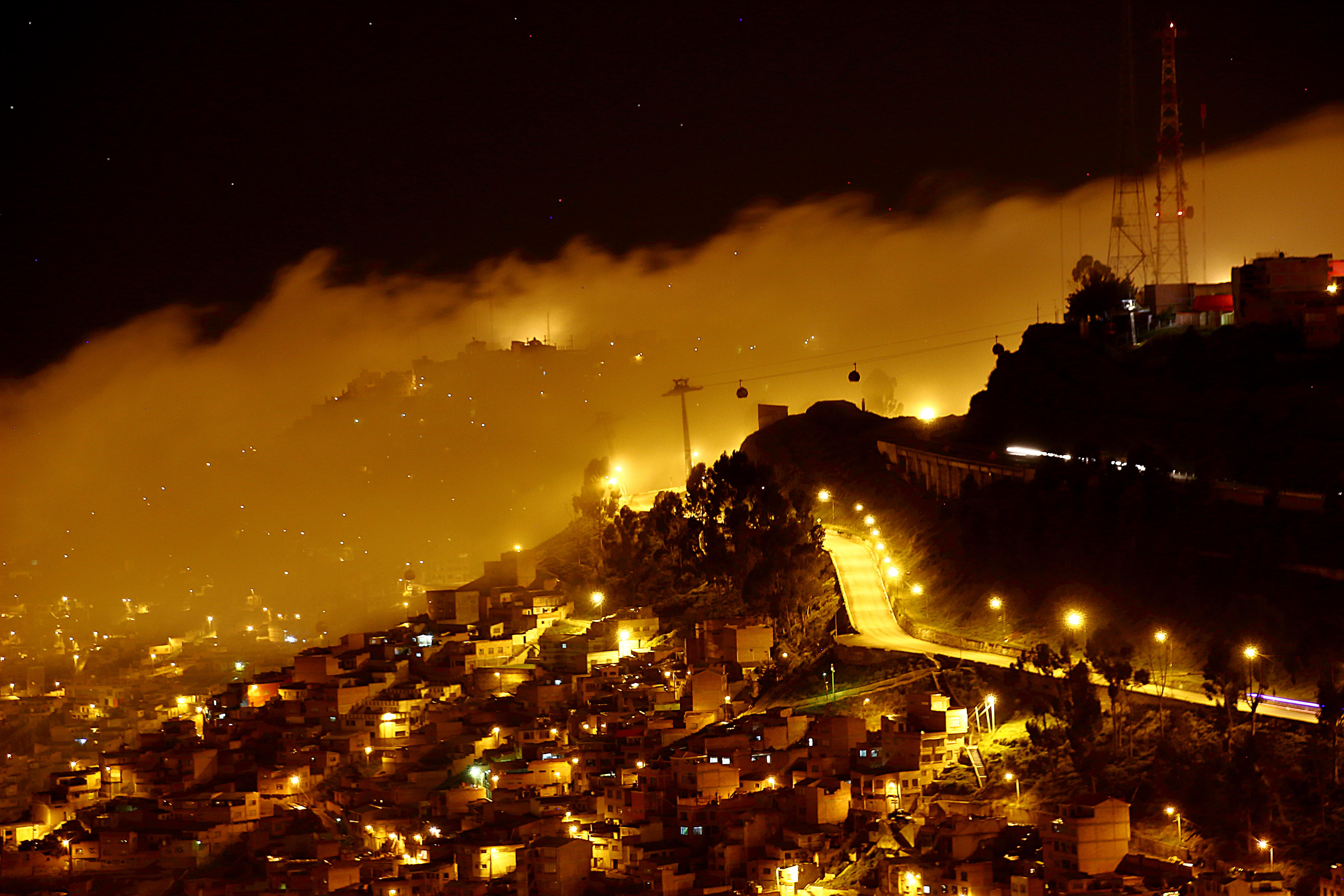 Foggy Night in La Paz
