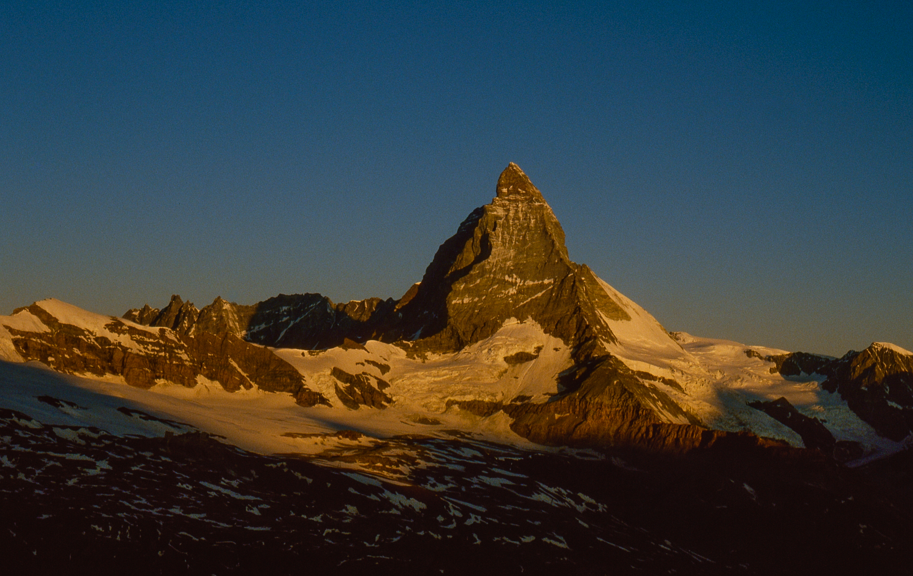 Matterhorn in the morning landscape