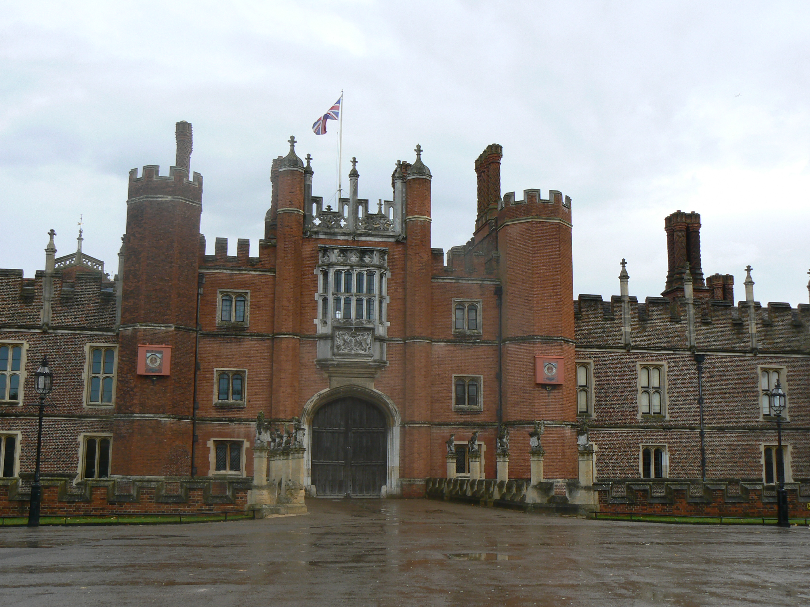 Front View of Hampton Court Palace.