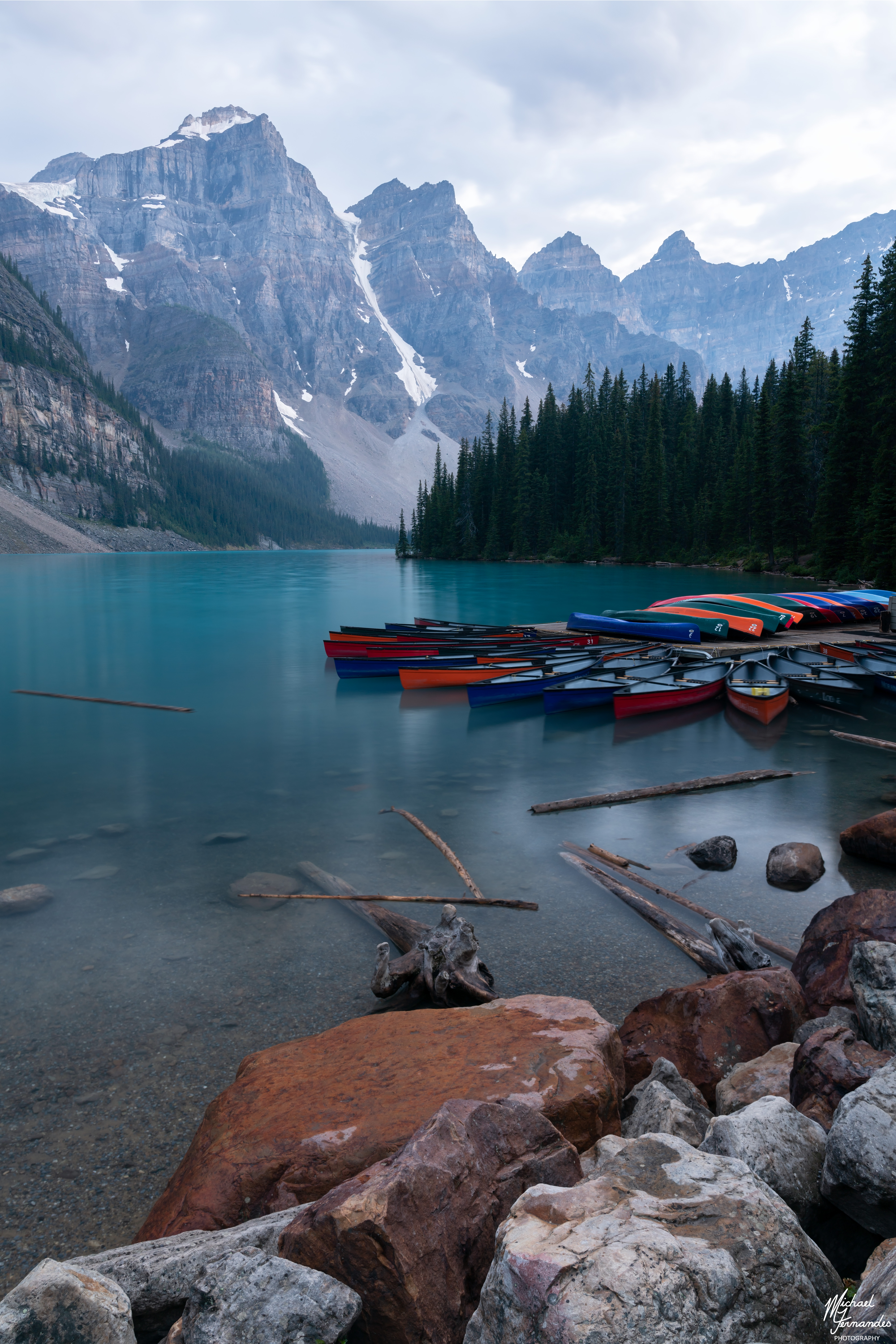 Moraine Lake after a Storm
