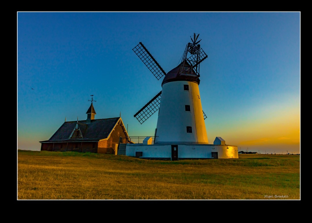 Lytham Windmill at sunset