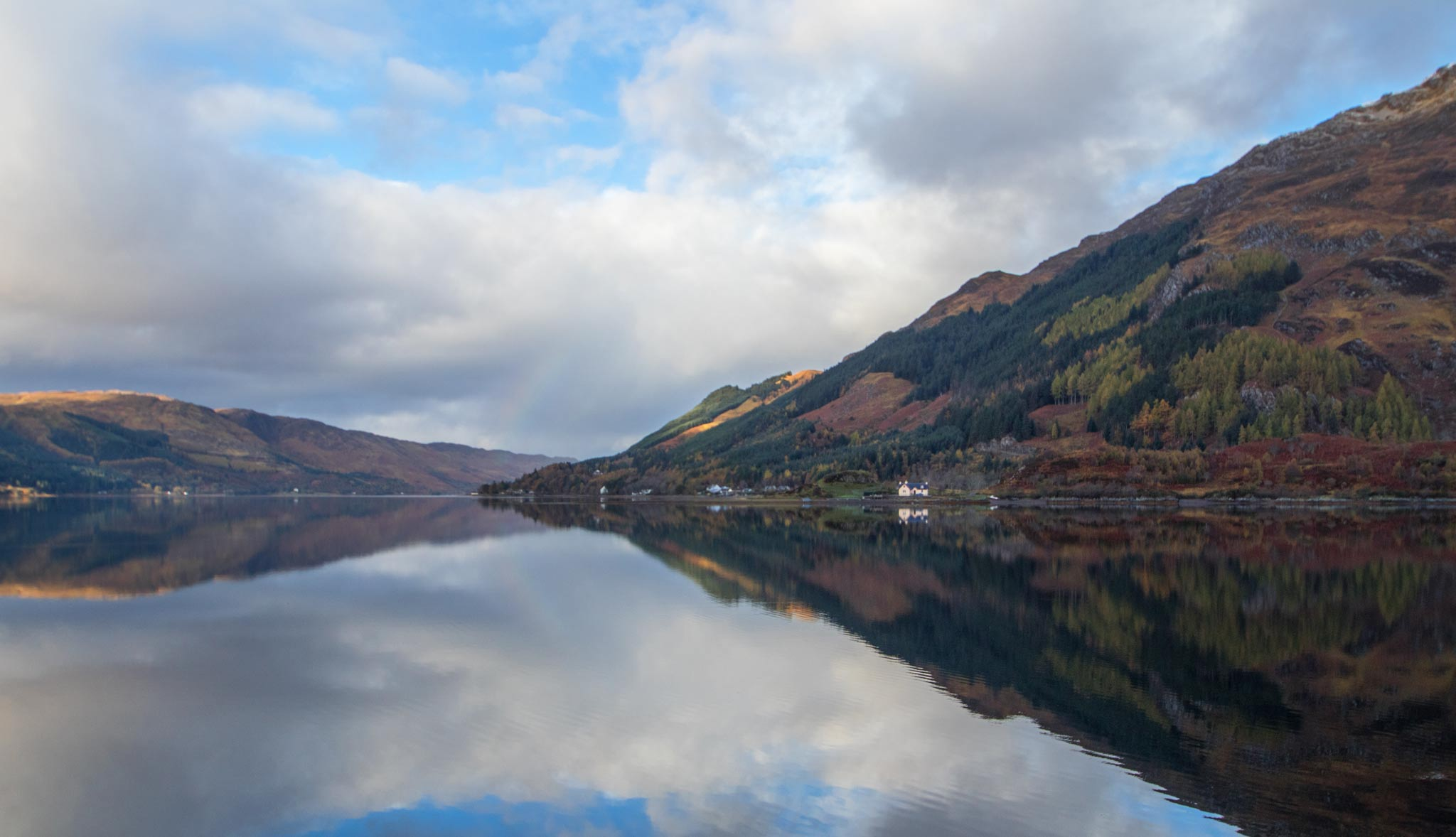 Reflections on Loch Duich Scotland.