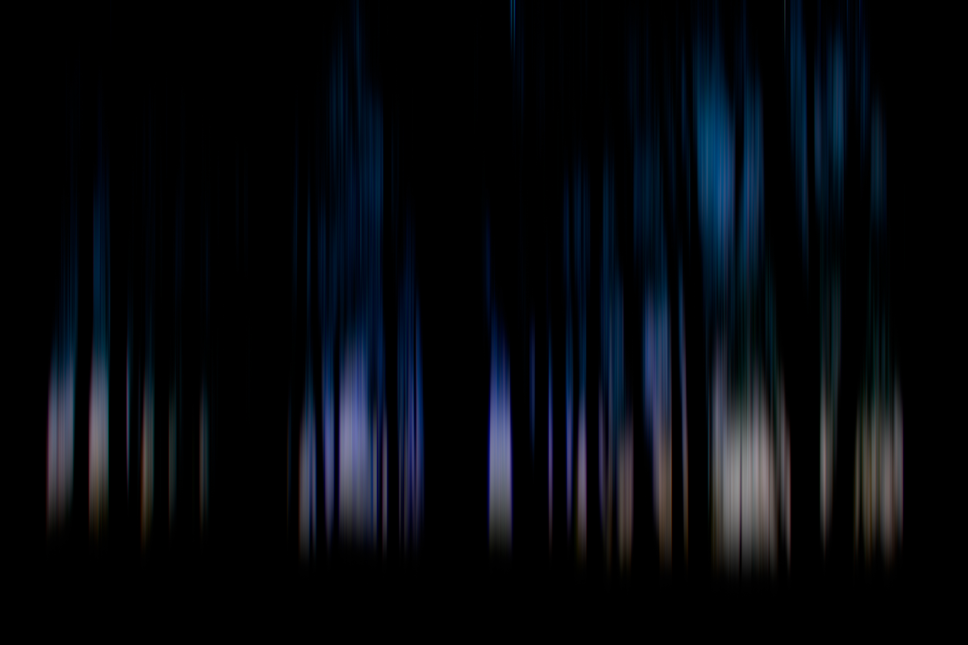 Blue Light Through Forest Trees Silhouette