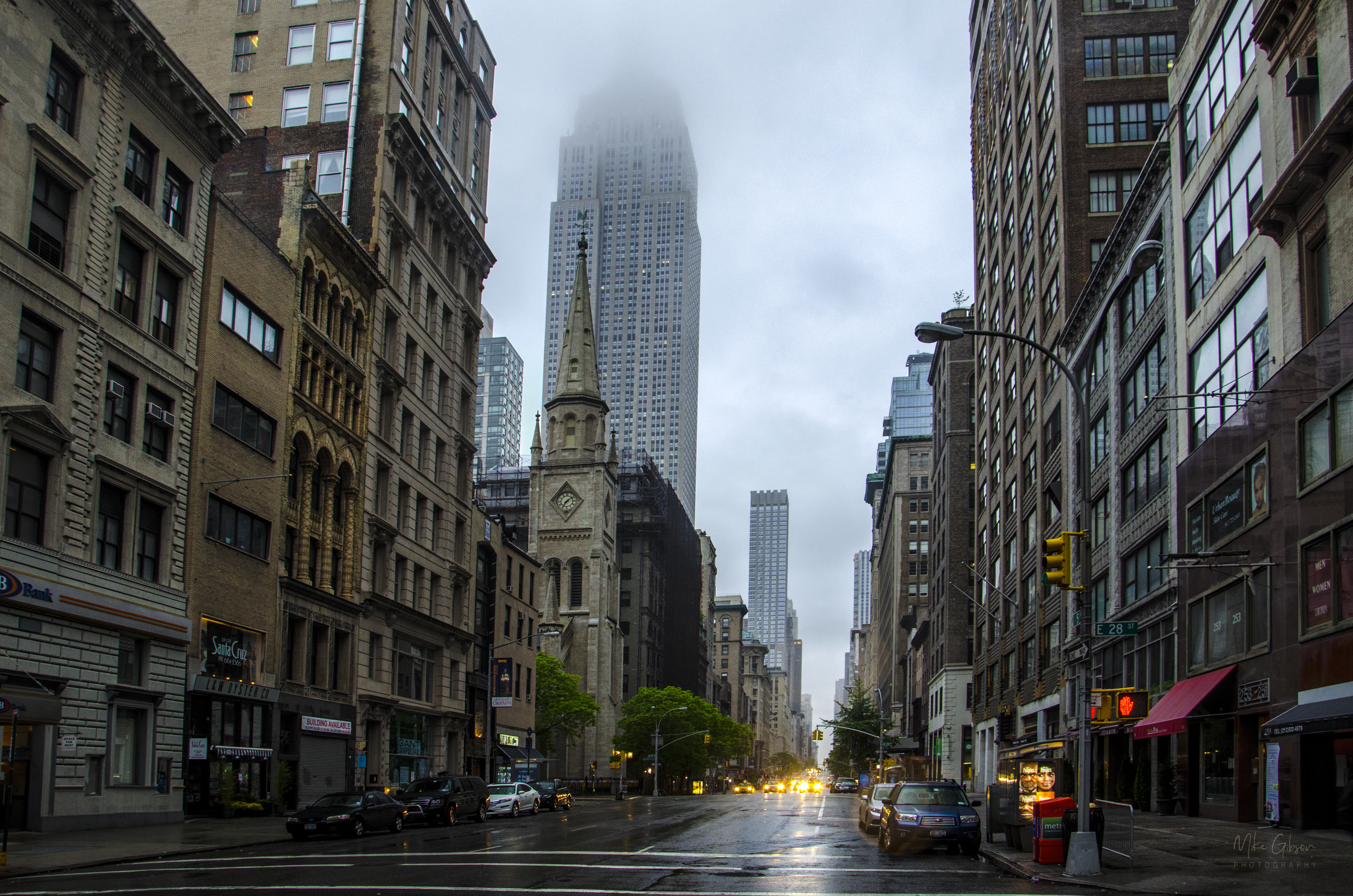 Low cloud over New york