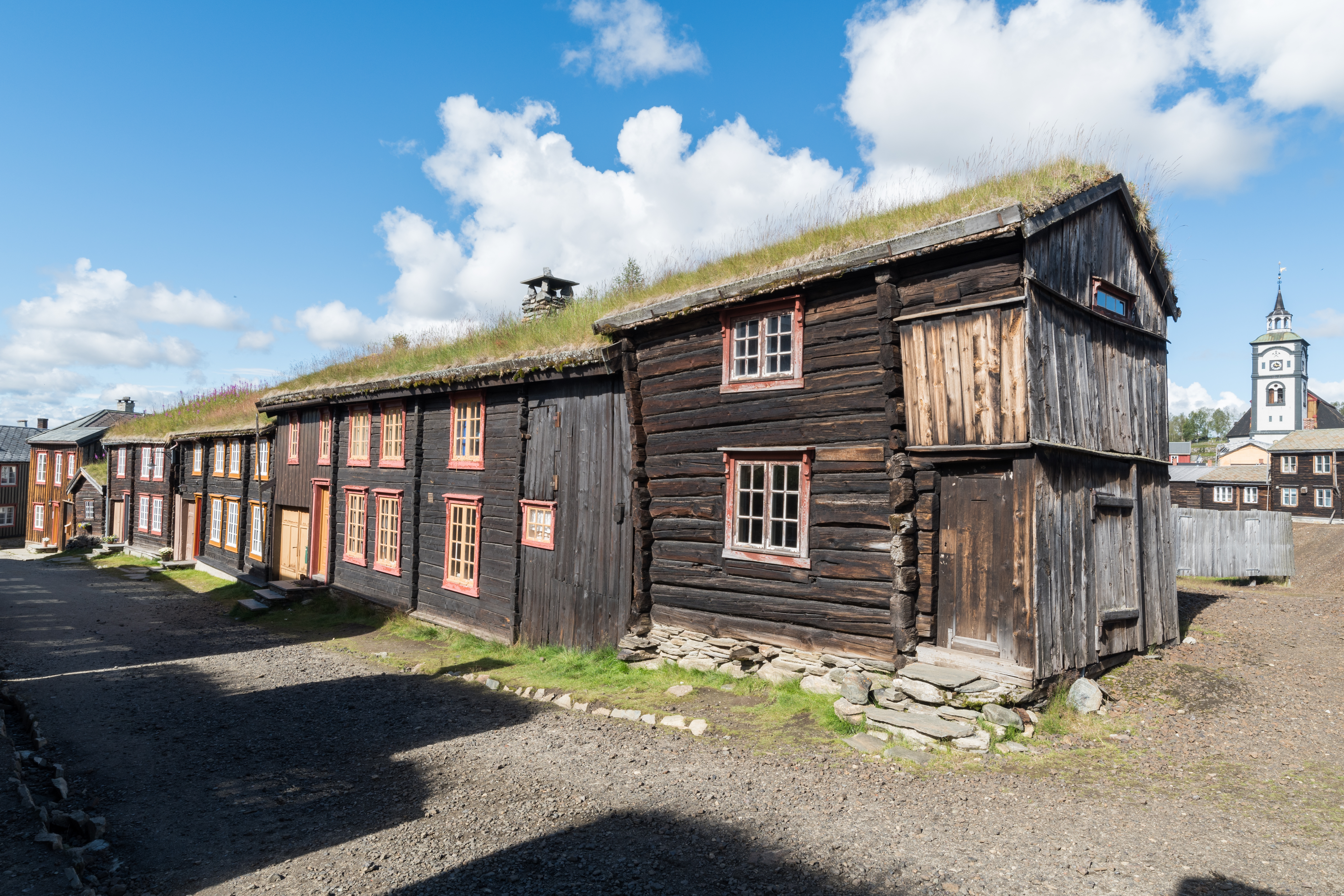Old wooden buildings in Røros