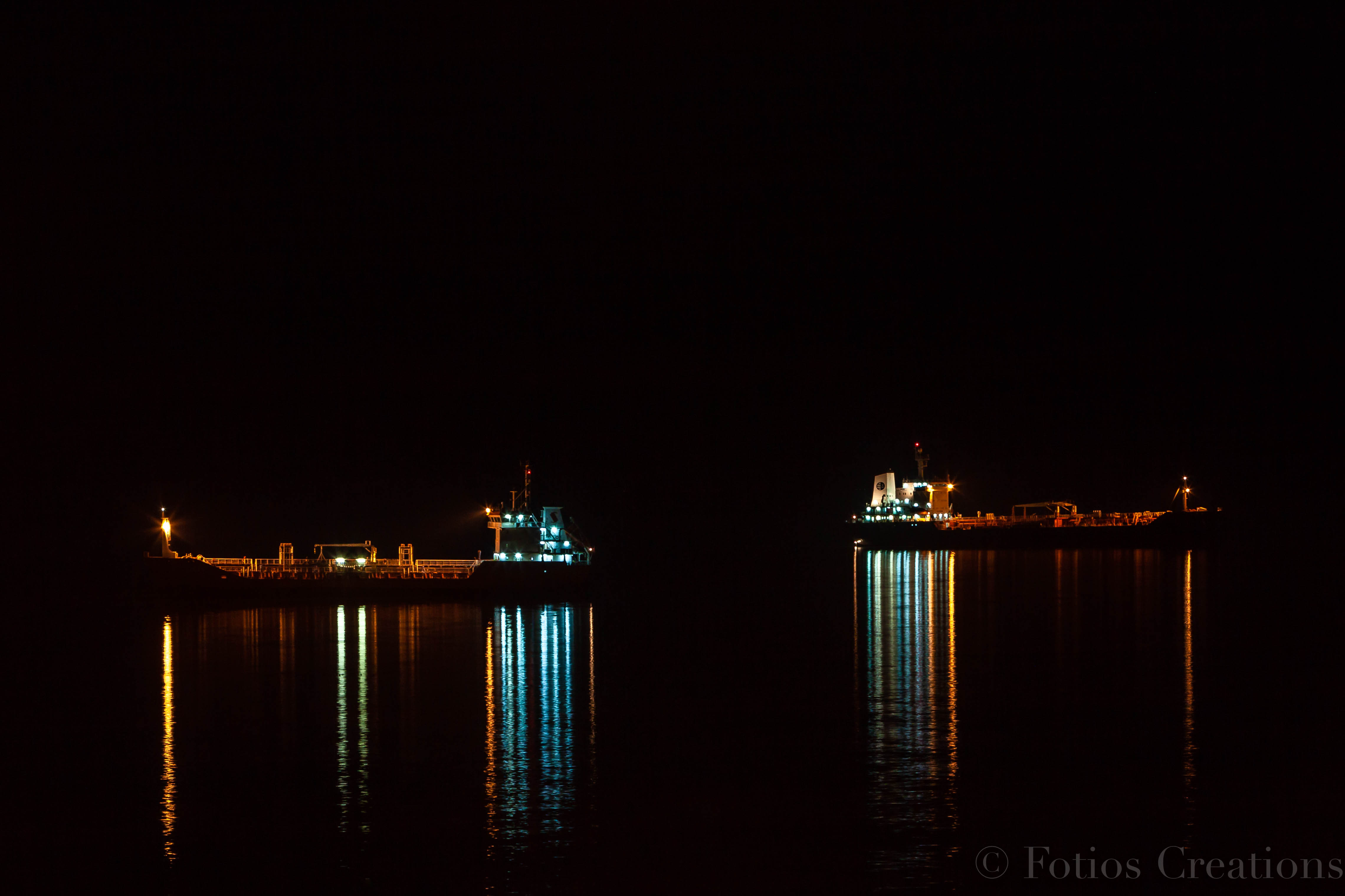 Ships in the dark