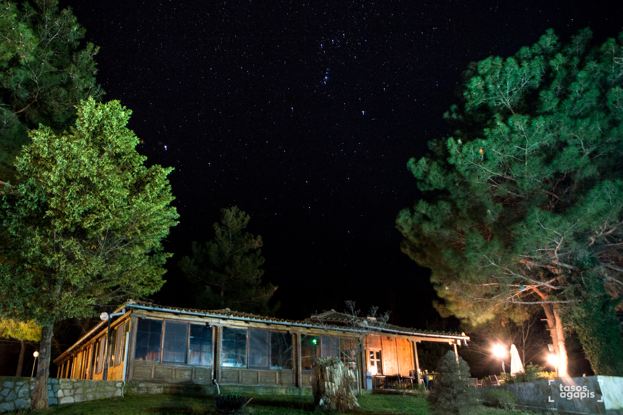 Orion Over a cabin