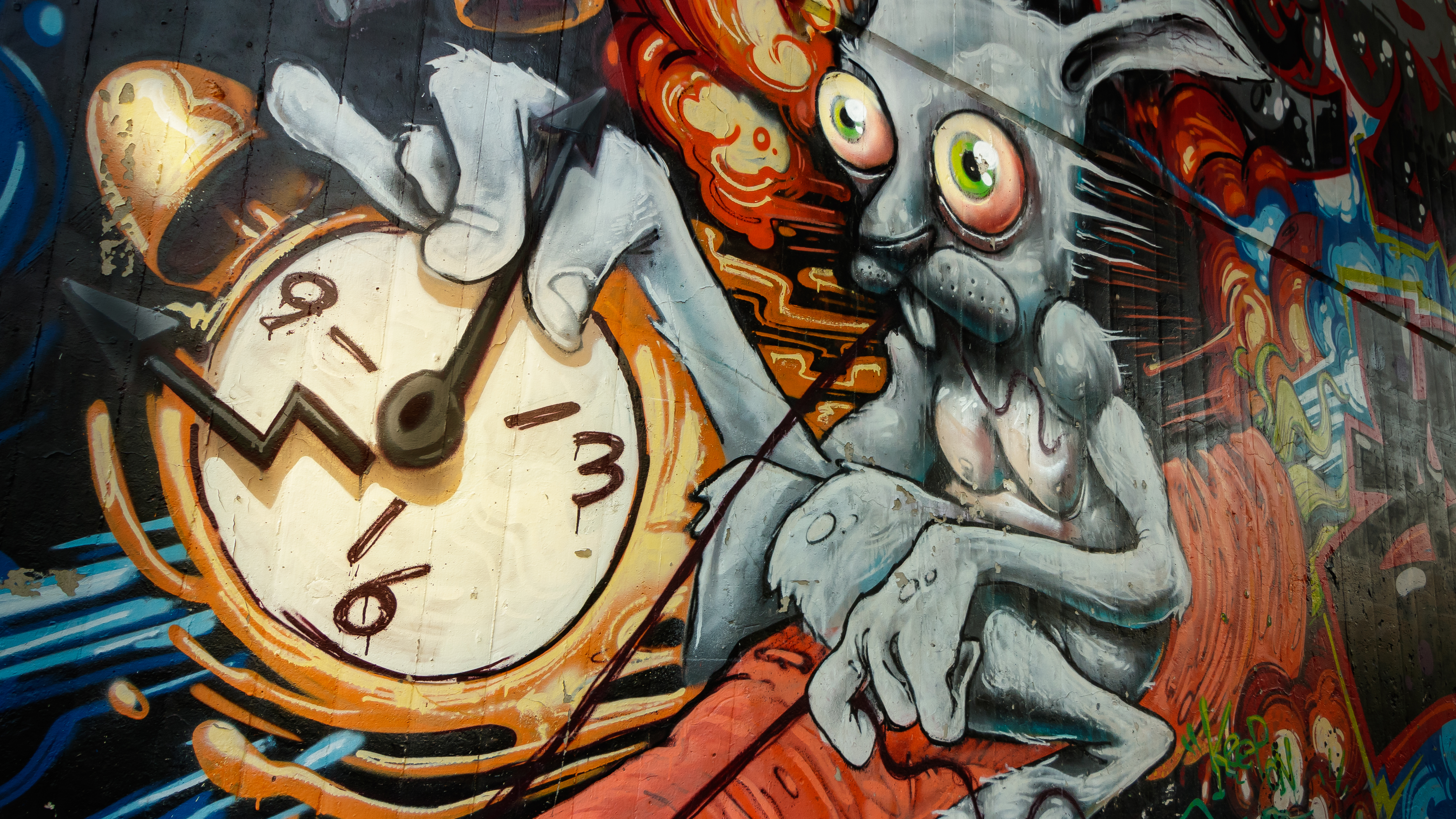 Alice in wonderland Graffiti