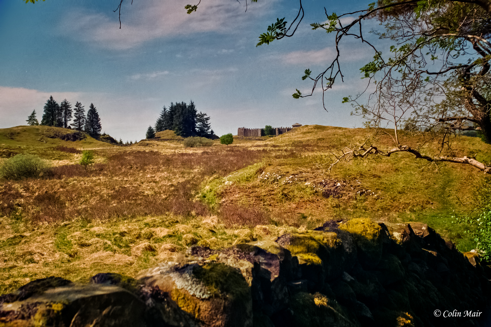 The Fort - 2018-05-25th, 17A_01138, Hanimex, 28mm, f11, 1-125th, Loch Doon, fort & hills