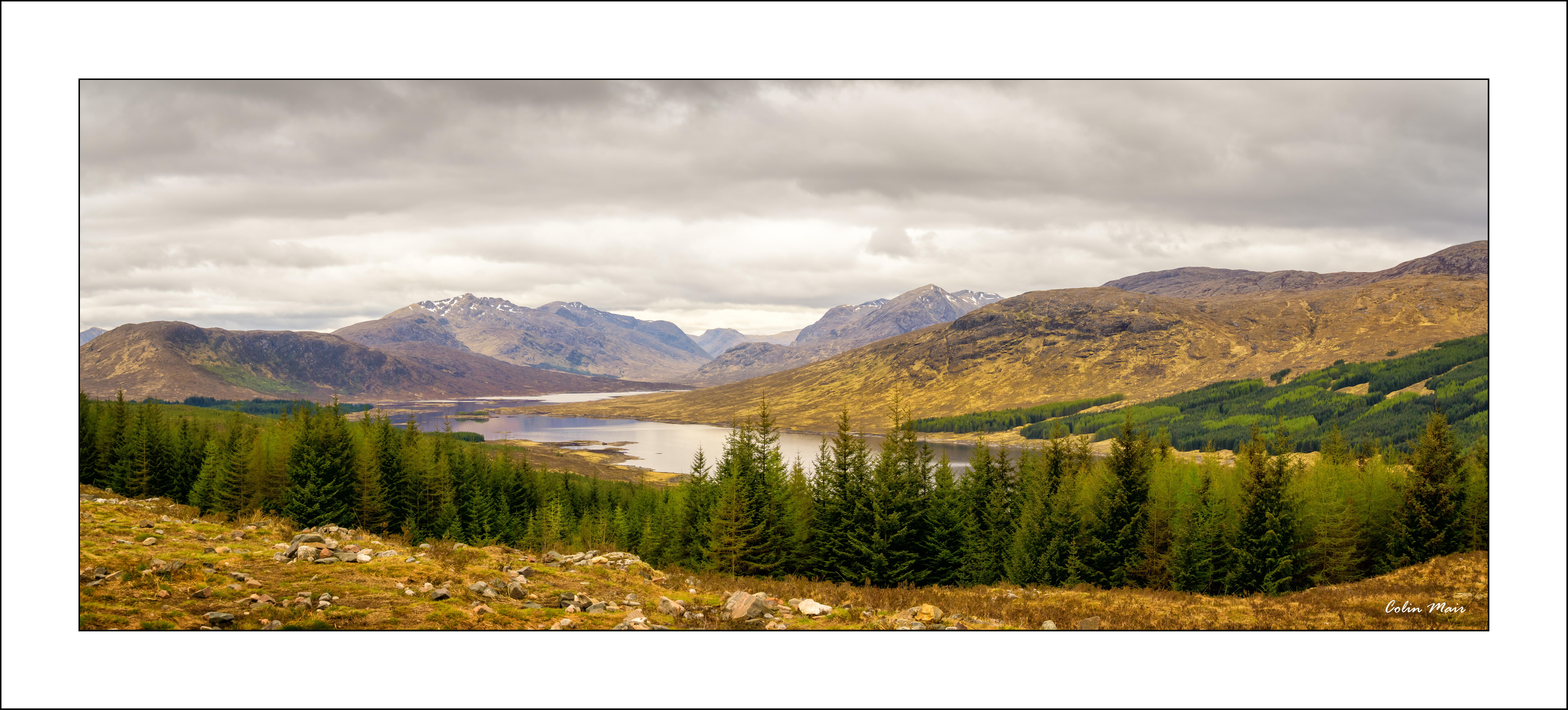 Loch Loyne Panorama - 2019-04-27th, Scotland, UK