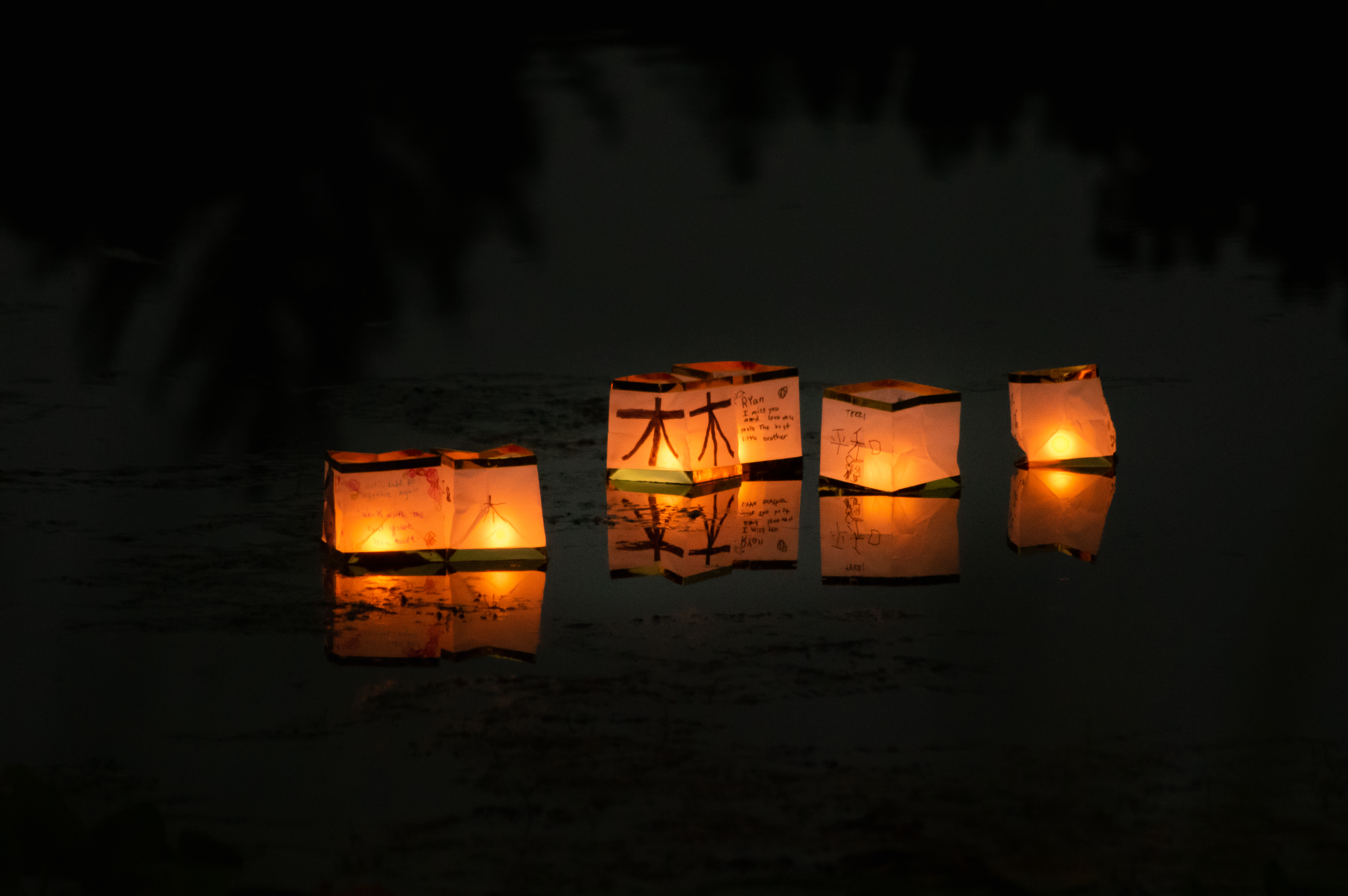 Floating Paper Candle Lanterns - line