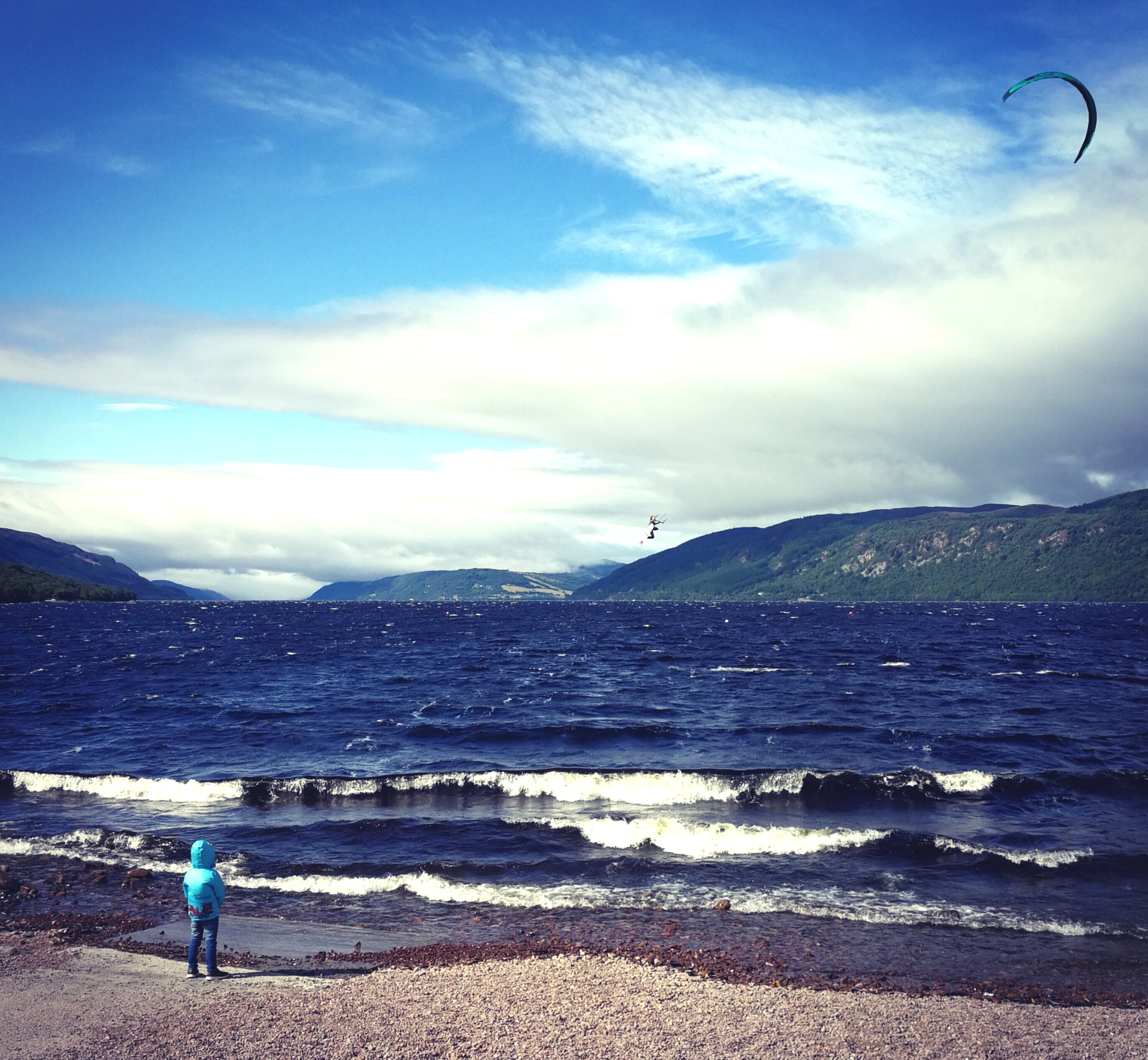 The future of kite surfing, Loch Ness style.