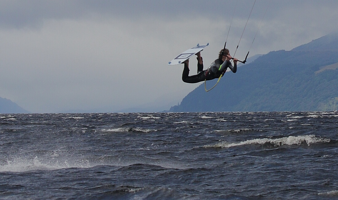 Kite surfing loch ness, just bonkers.