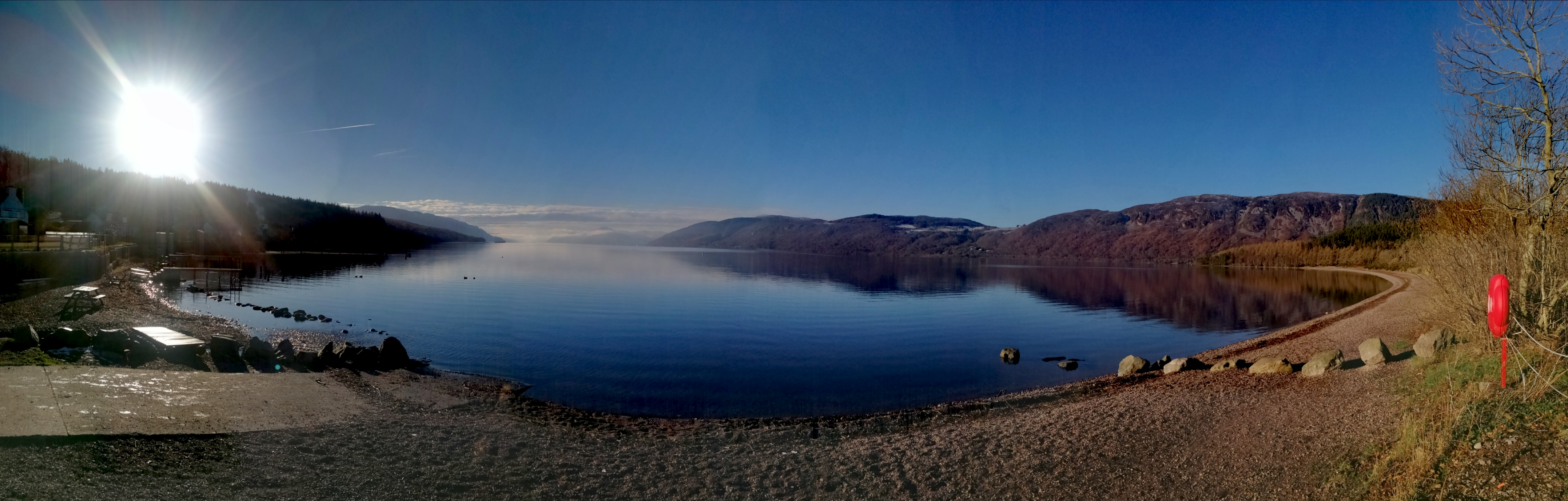 Winter sunshine on Loch Ness.