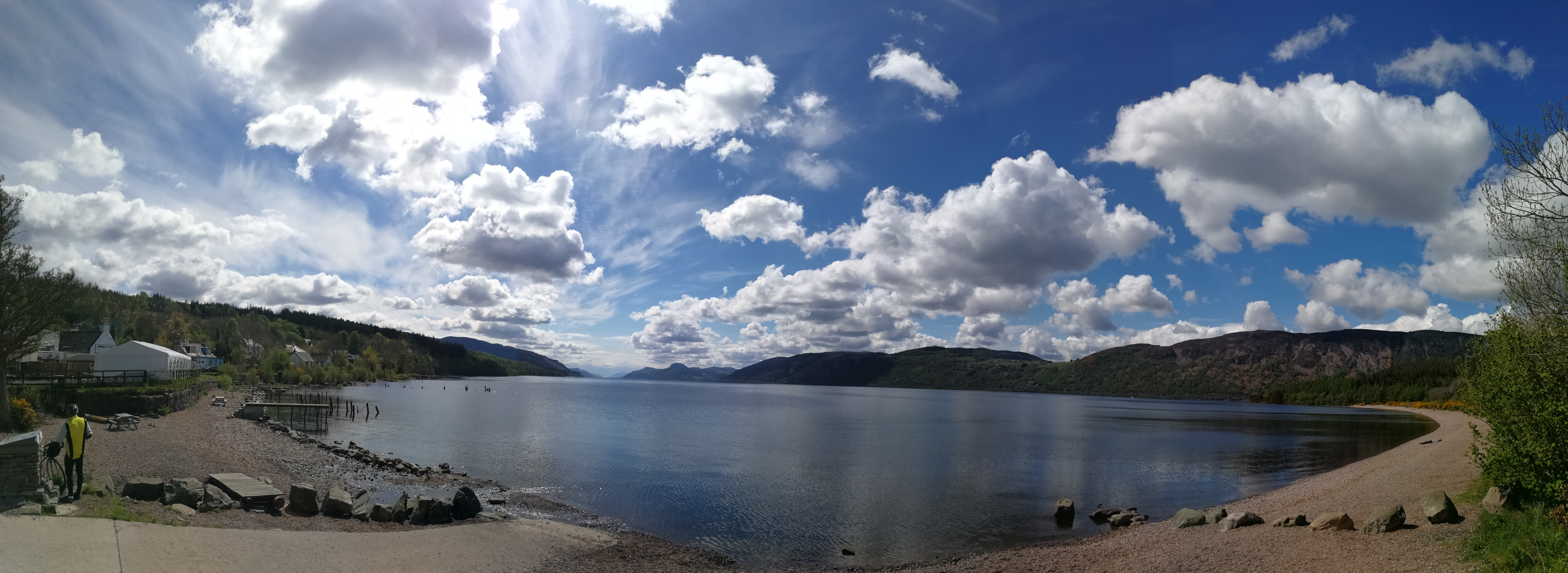 Loch ness as seen from the nessie hunters van.