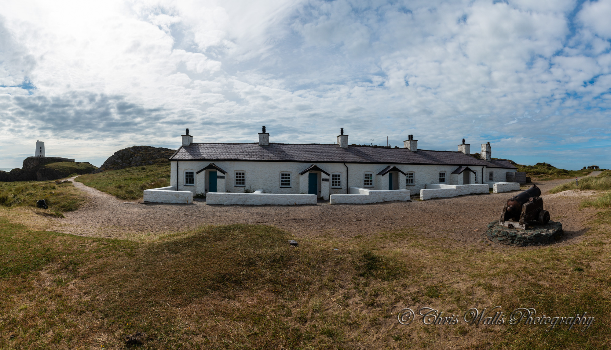Pilots Cottages Llanddwyn Island Panorama