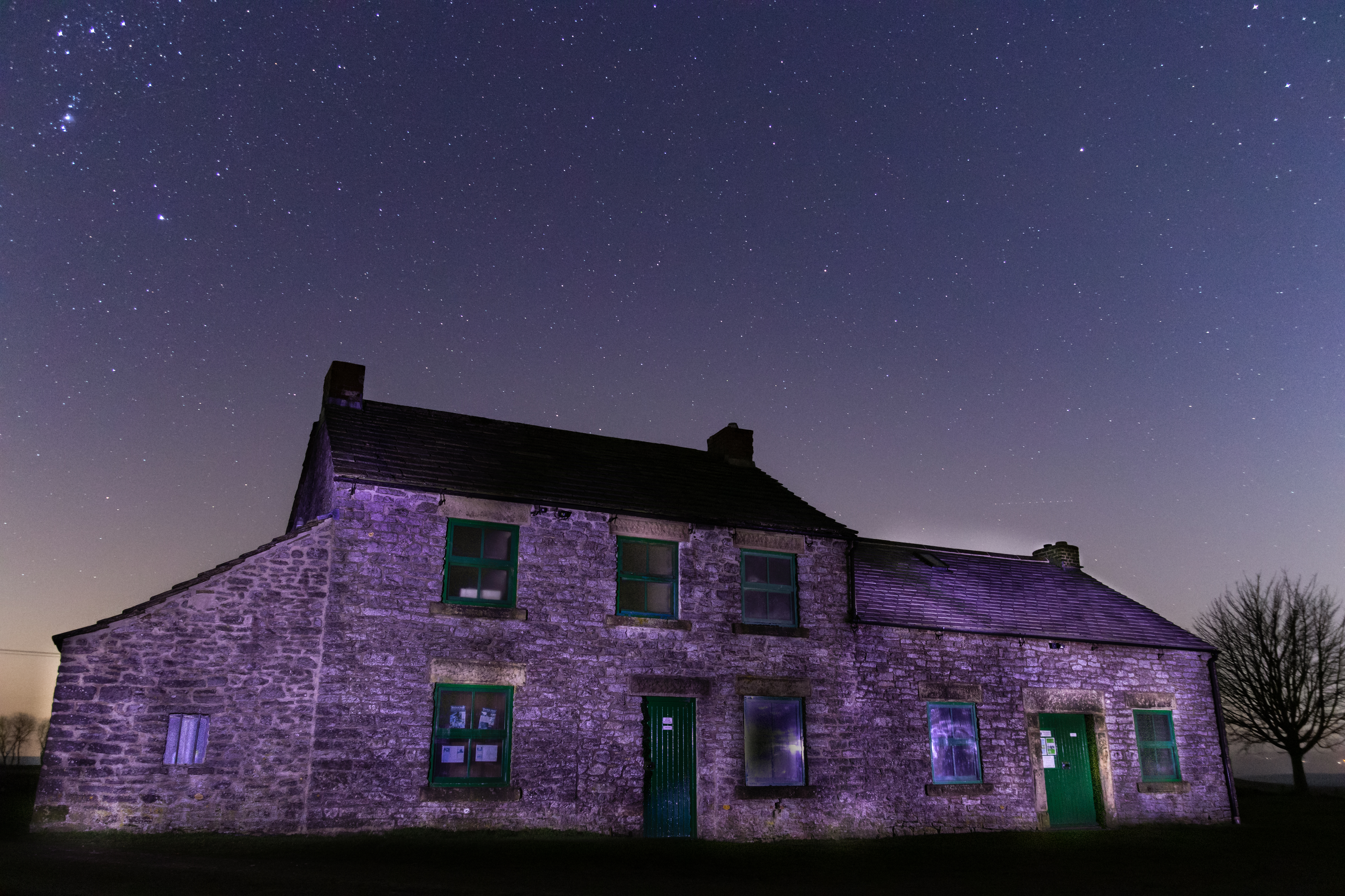 Magpie Lead Mine, Star sky and light painting.