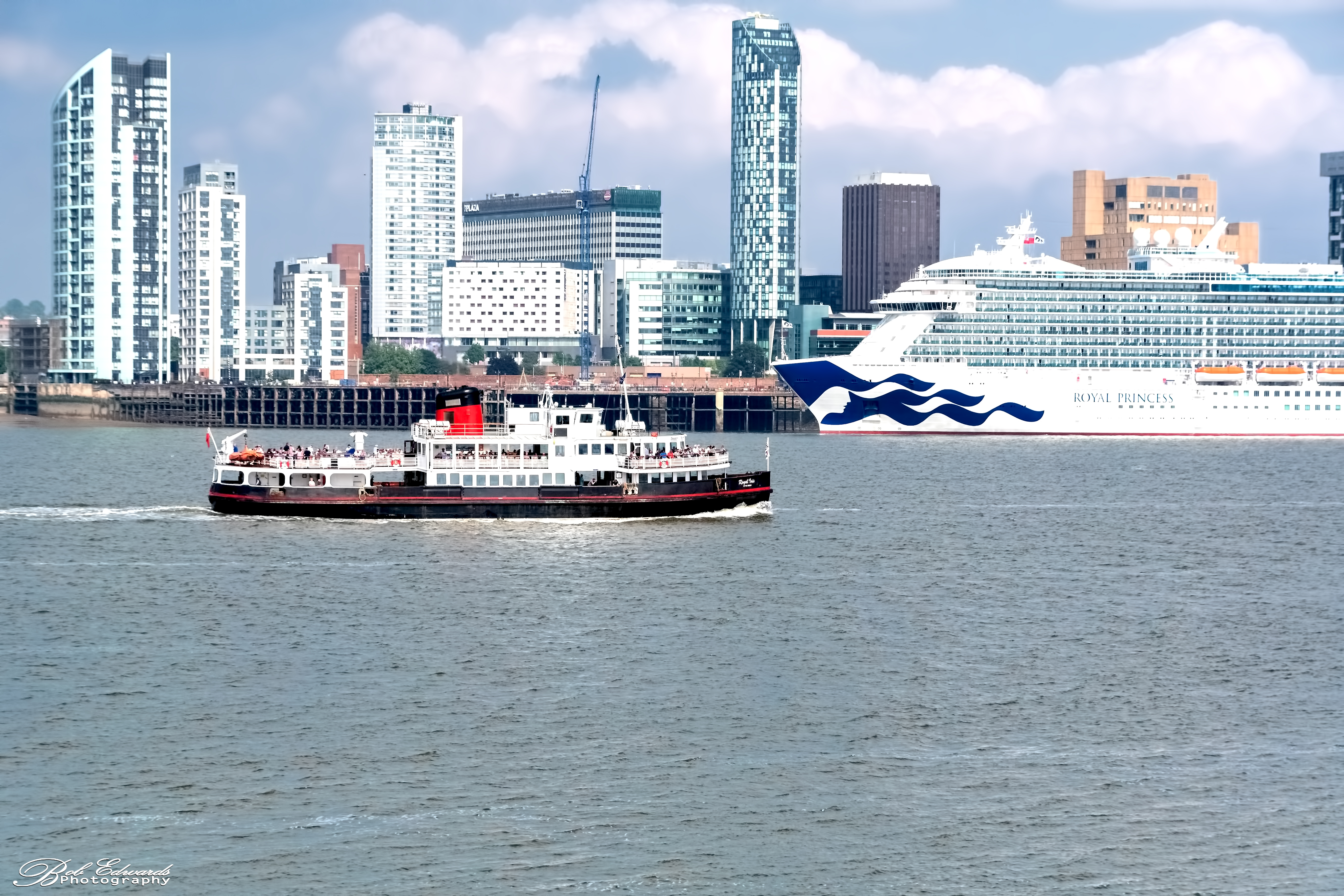 Royal Iris of The Mersey and the Royal Princess, Liverpool Waterfront Waterfront 10th June.jpg