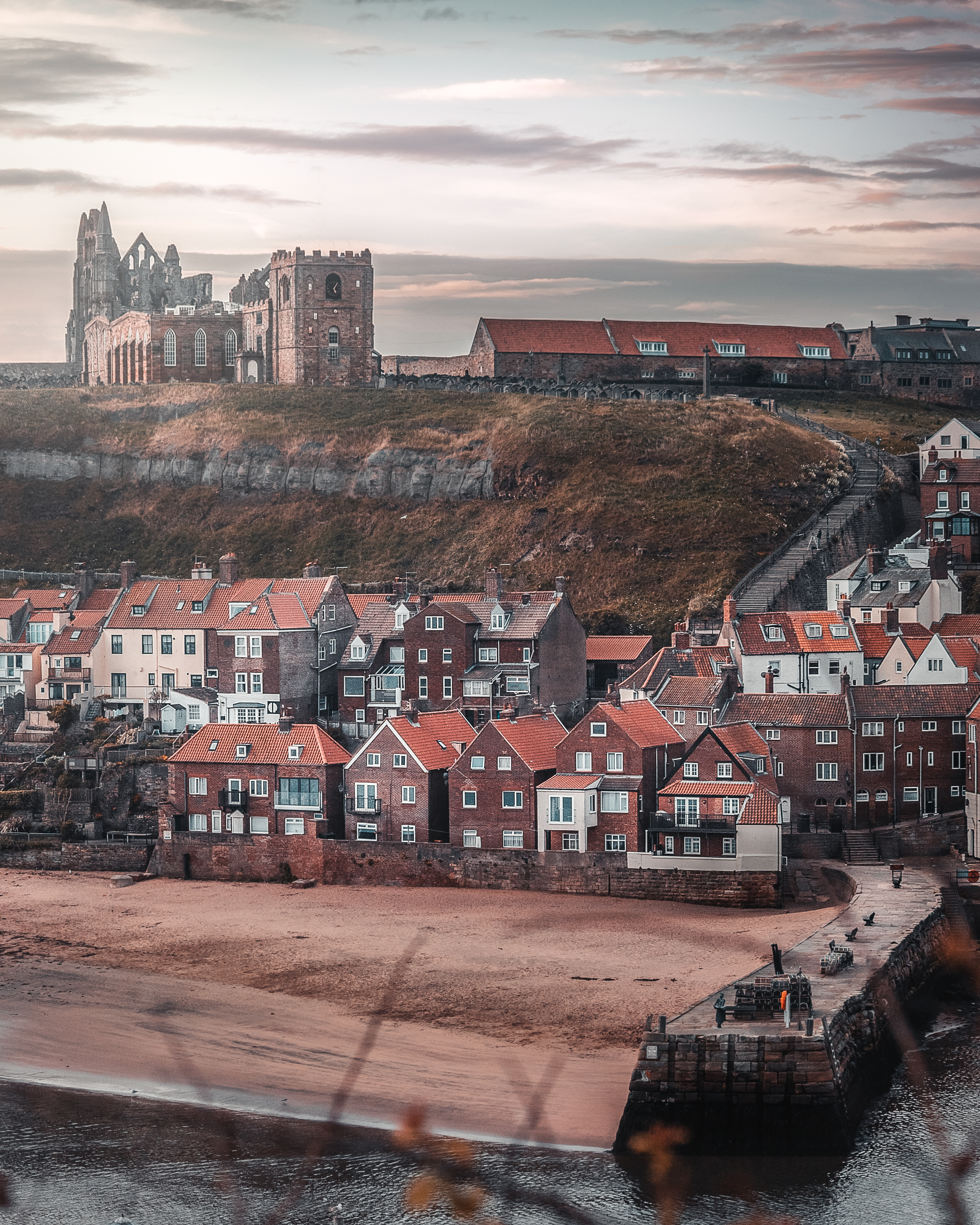 Whitby in the morning