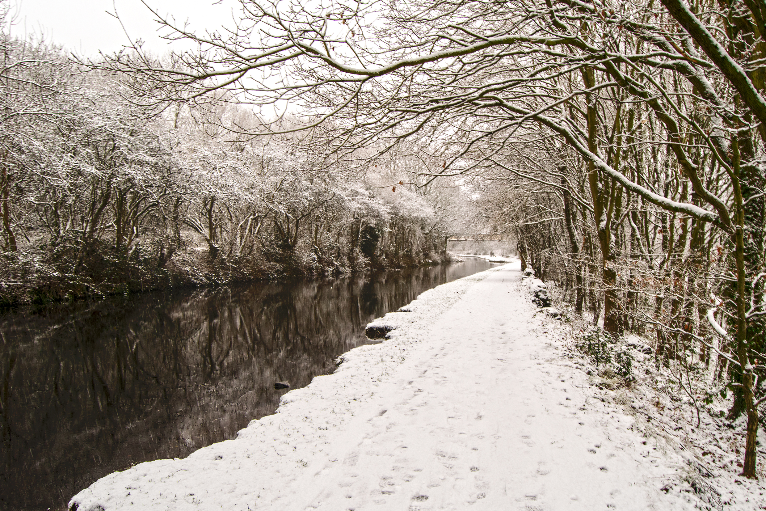 The Snowy Canal Path.