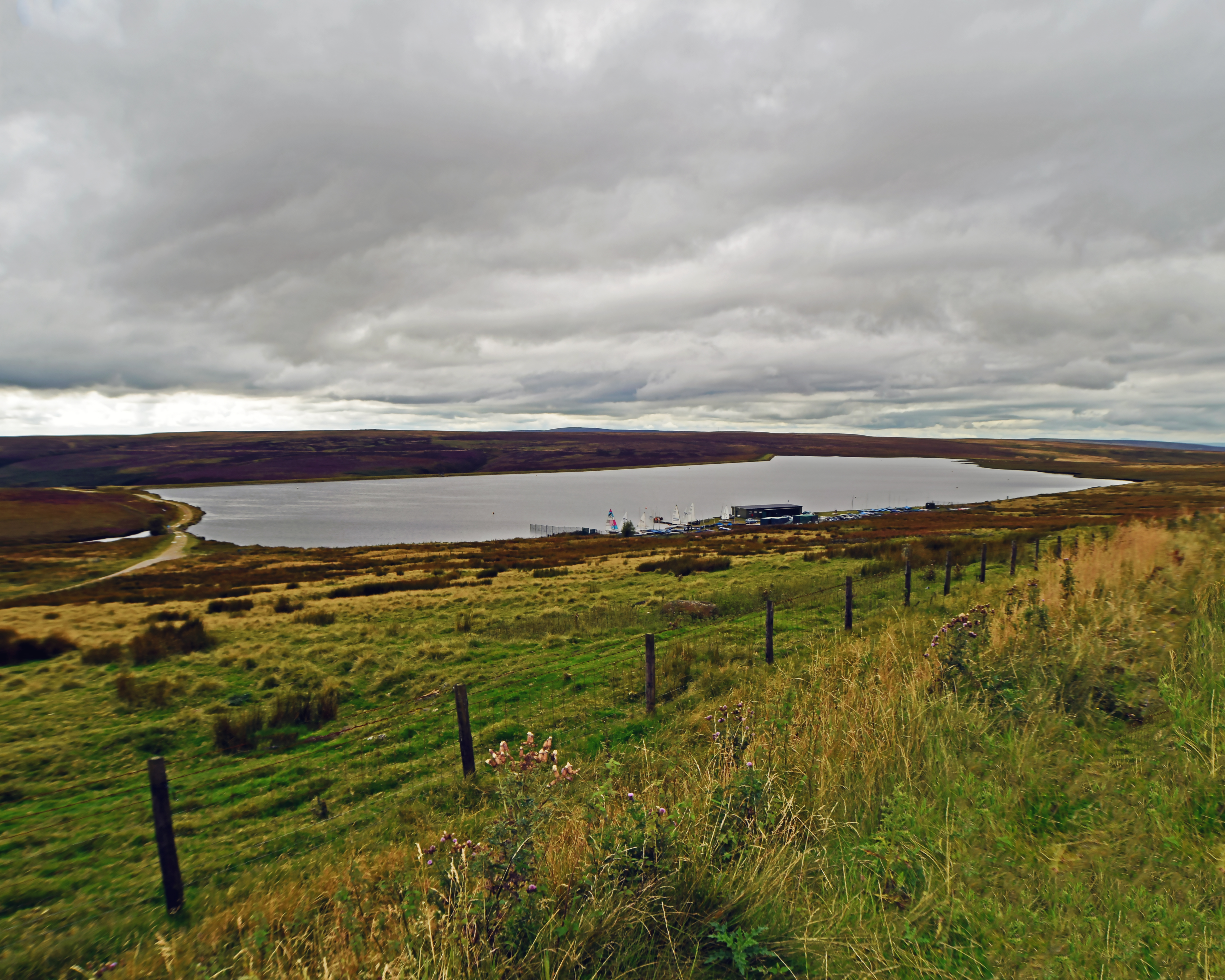 Dark Clouds Gathering at Fly Flatts Reservoir, West Yorkshire.