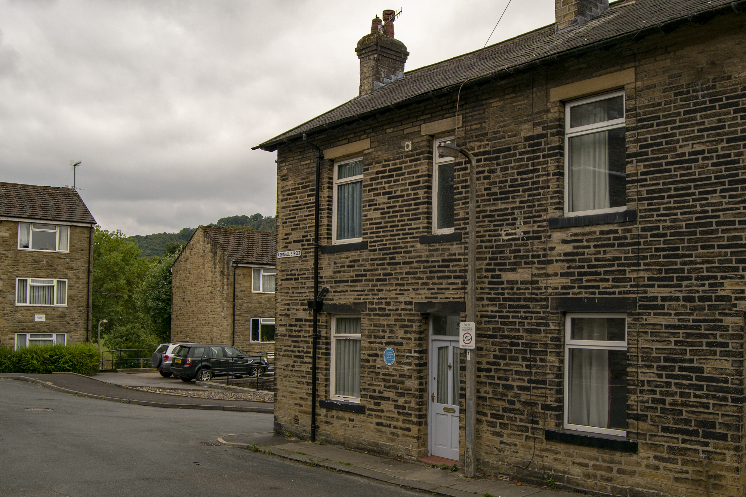Birthplace of Poet Ted Hughes.. 1 Aspinall Street, Mytholmroyd.