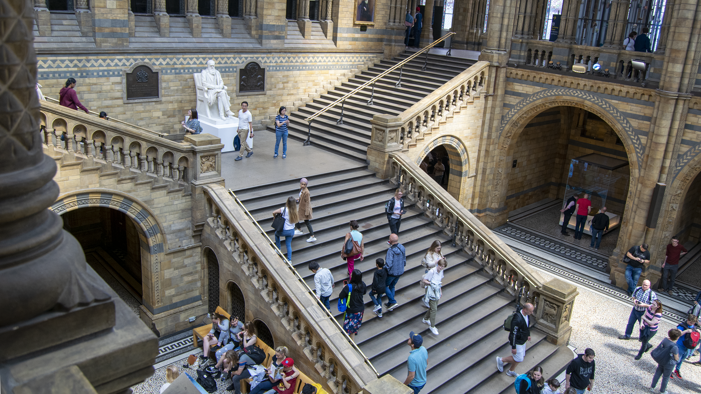 Steps at the Natural History Museum.