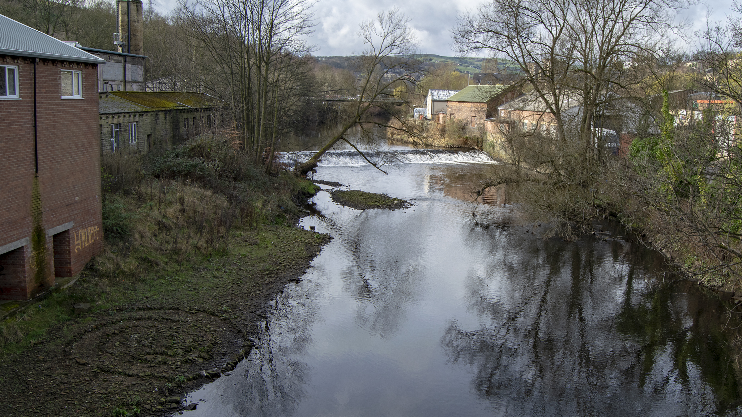 River Calder at Mearclough, Sowerby Bridge