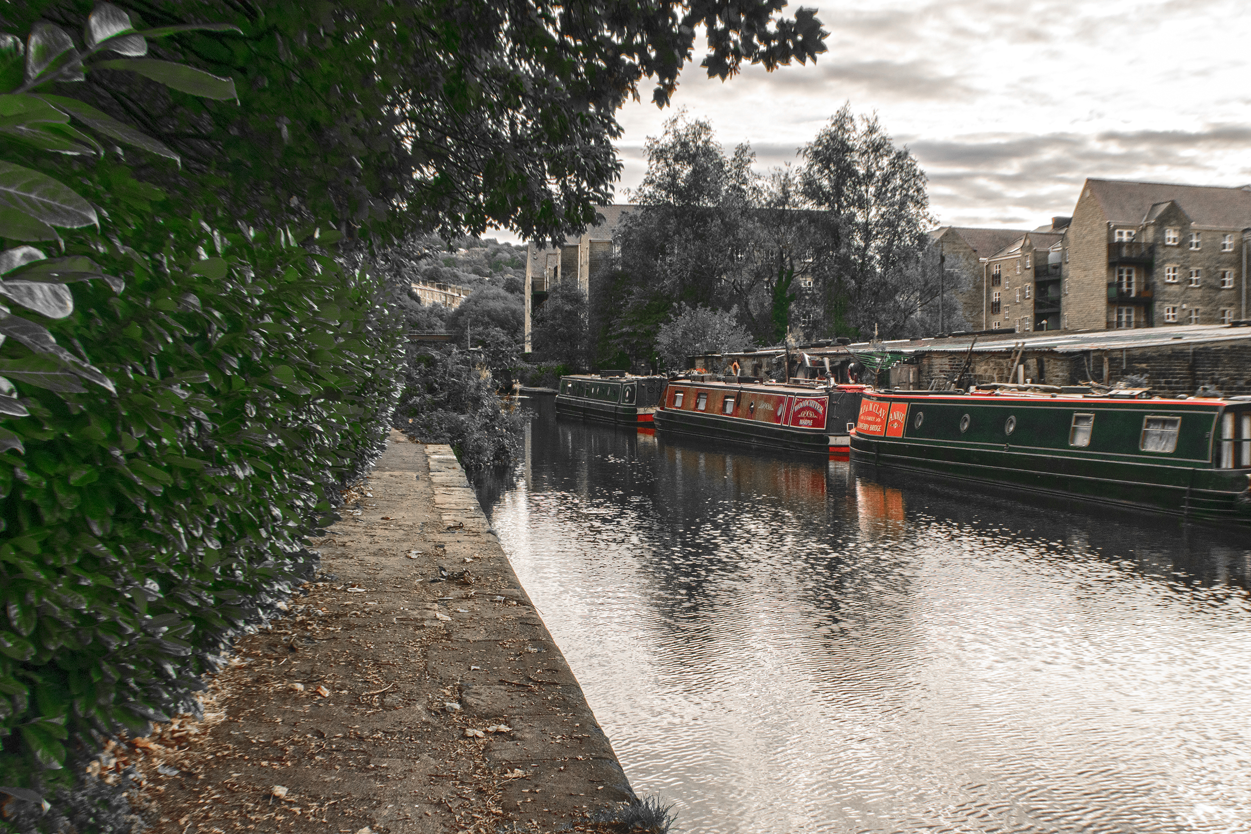 The Calder & Hebble Navigation, Sowerby Bridge Canal Basin.