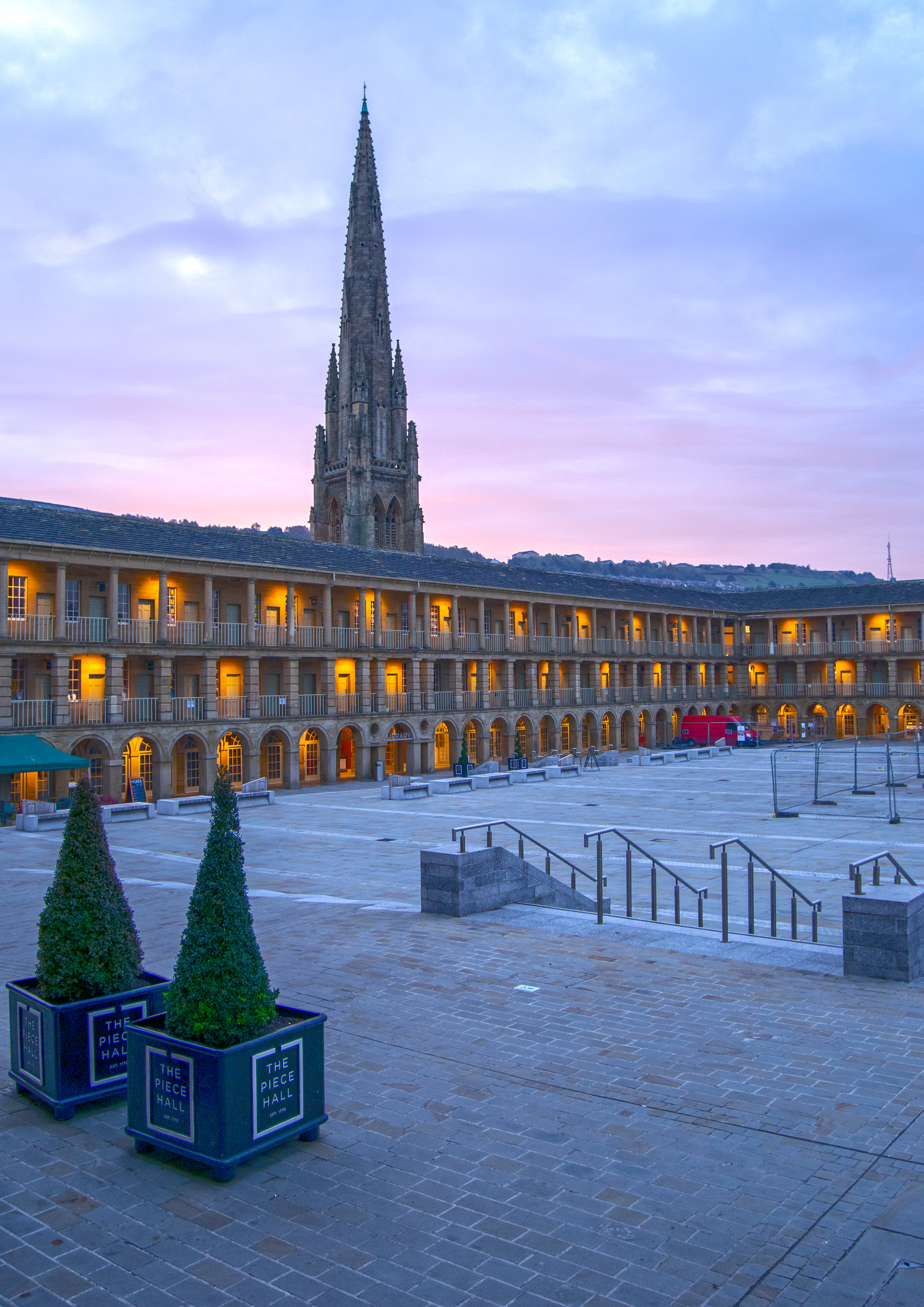 Square Church Spire and the Piece Hall, Halifax
