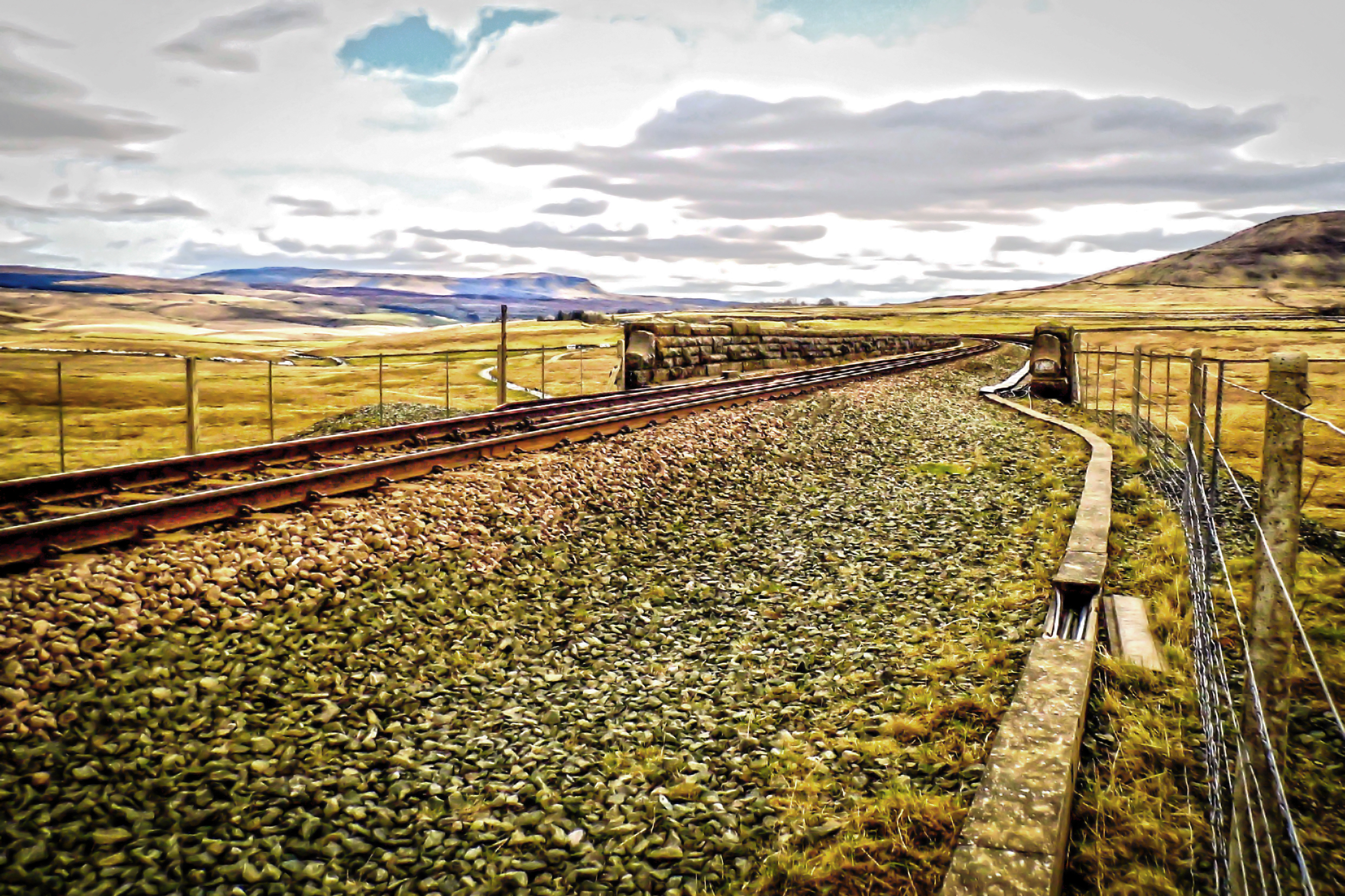 The Top of Ribblehead Viaduct.