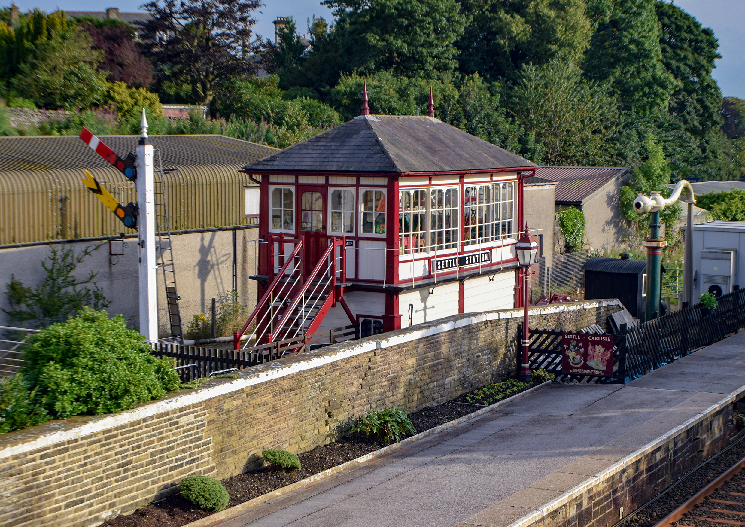 Signal Box at Settle Railway Station.
