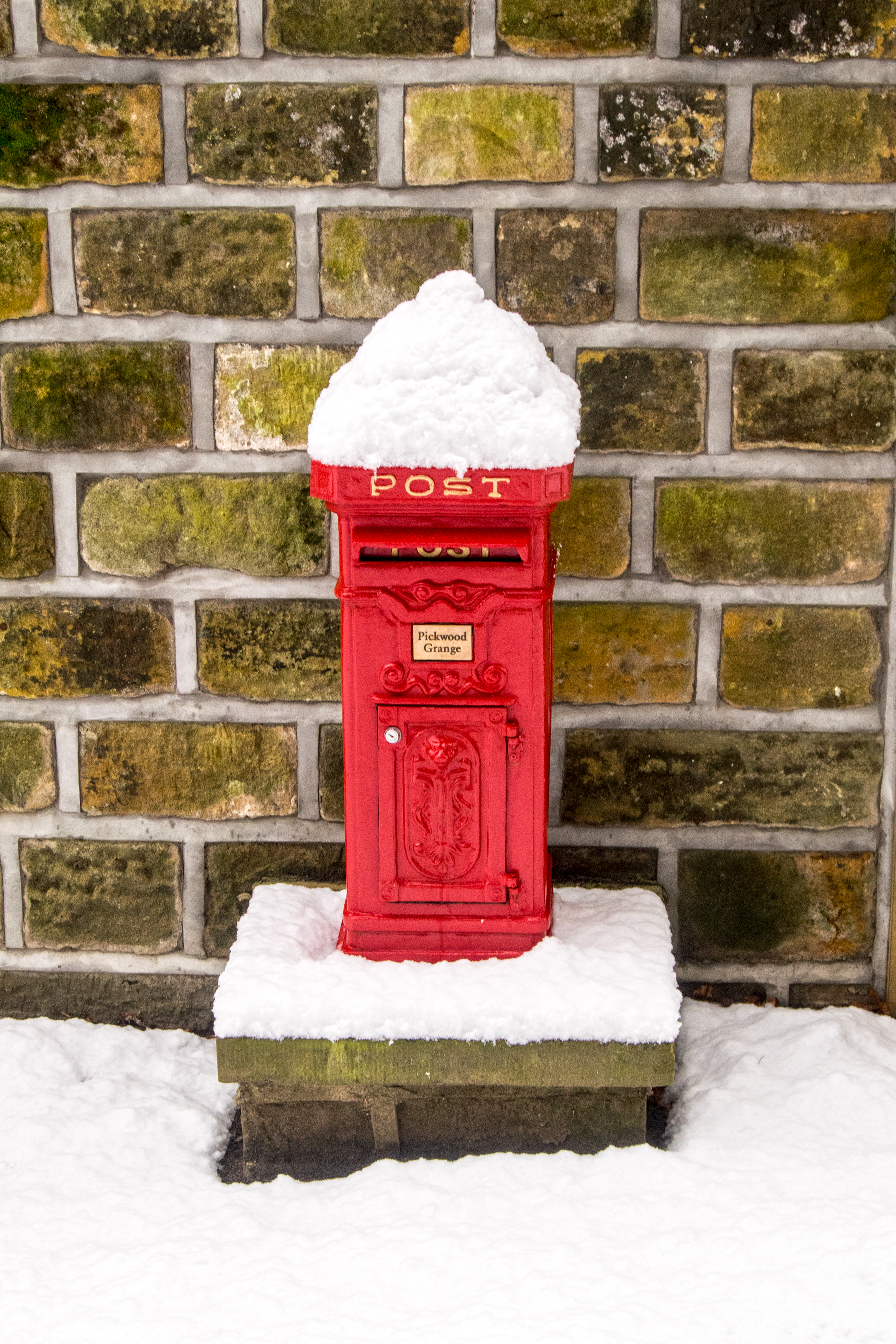 Snow Covered Post Box
