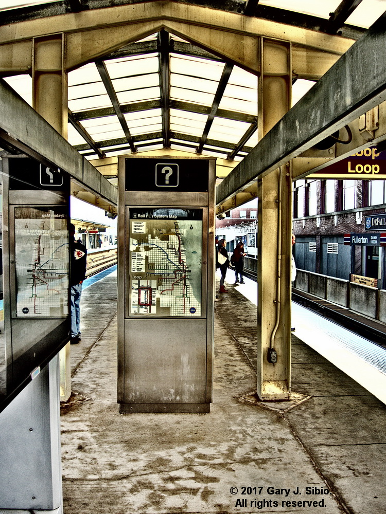Fullerton Avenue CTA L Station with Dramatic Special Effect (2015-03-10 13-52-34a)