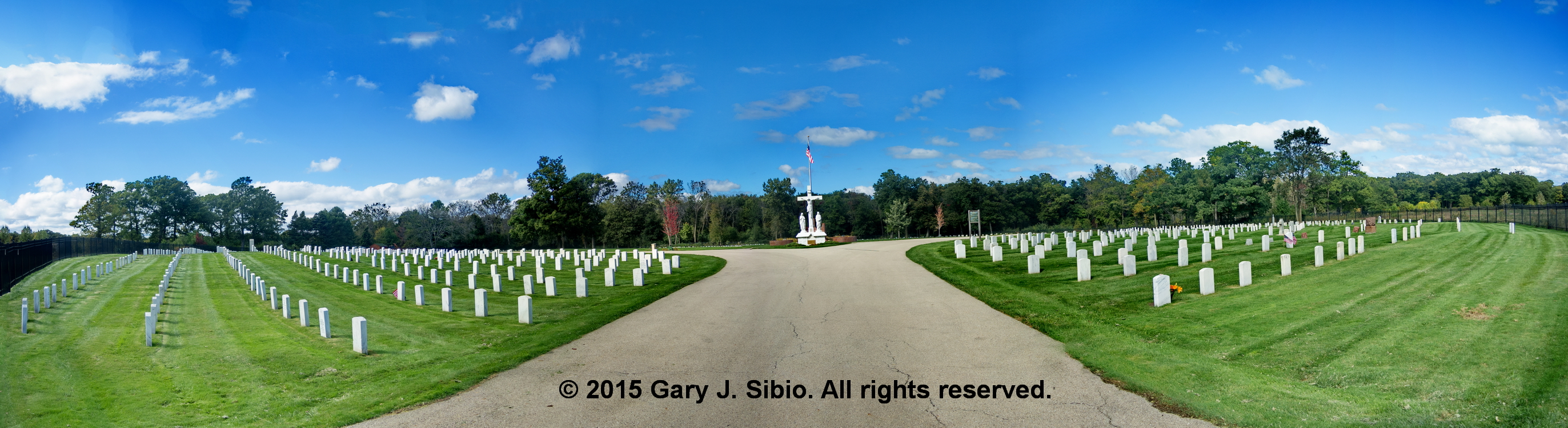 Panorama: Fort Sheridan Post Cemetery (2015-10-01 14-20-24 to 14-20-39a)