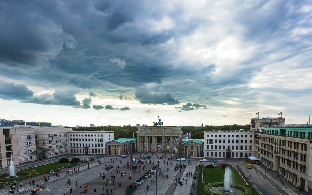 Dramatic Skies Over Berlin
