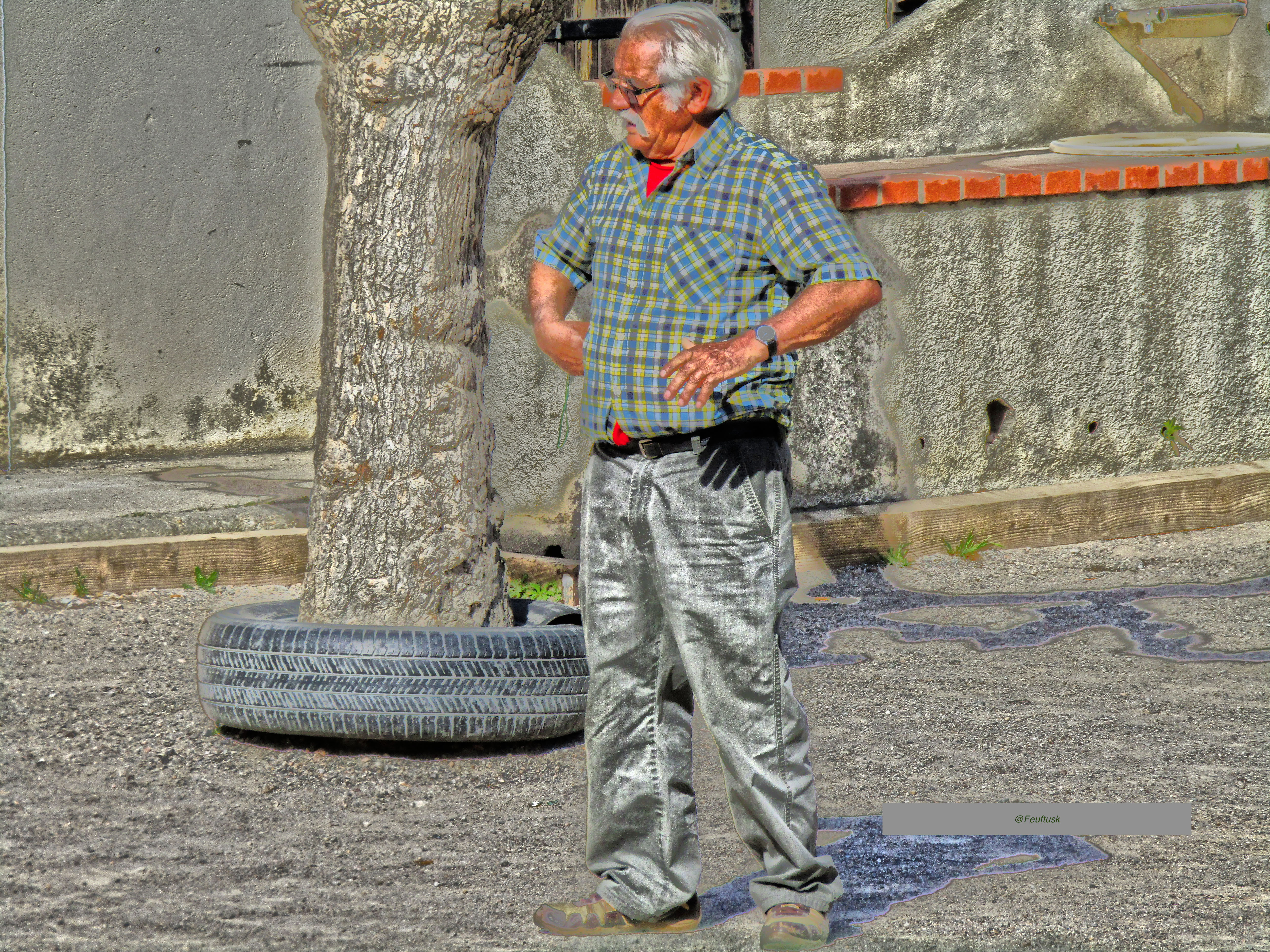 The pétanque player