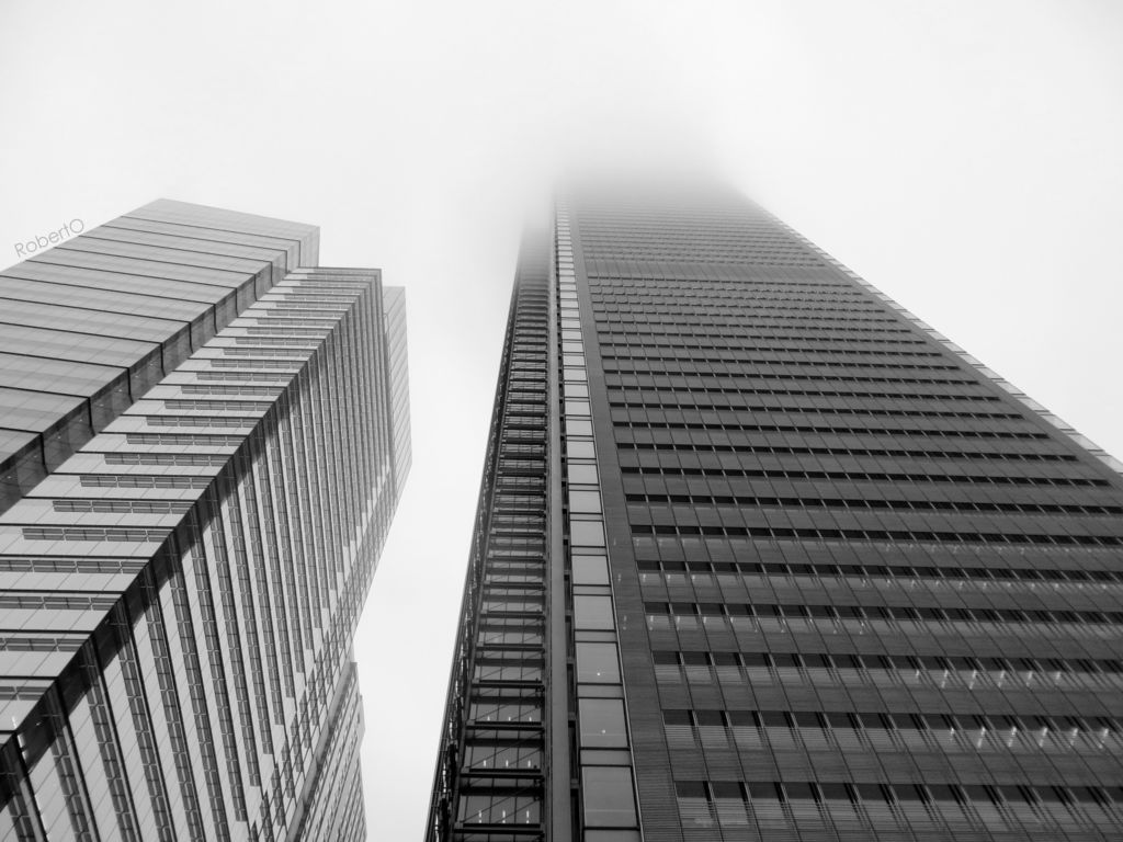 Skyscrapers in the mist