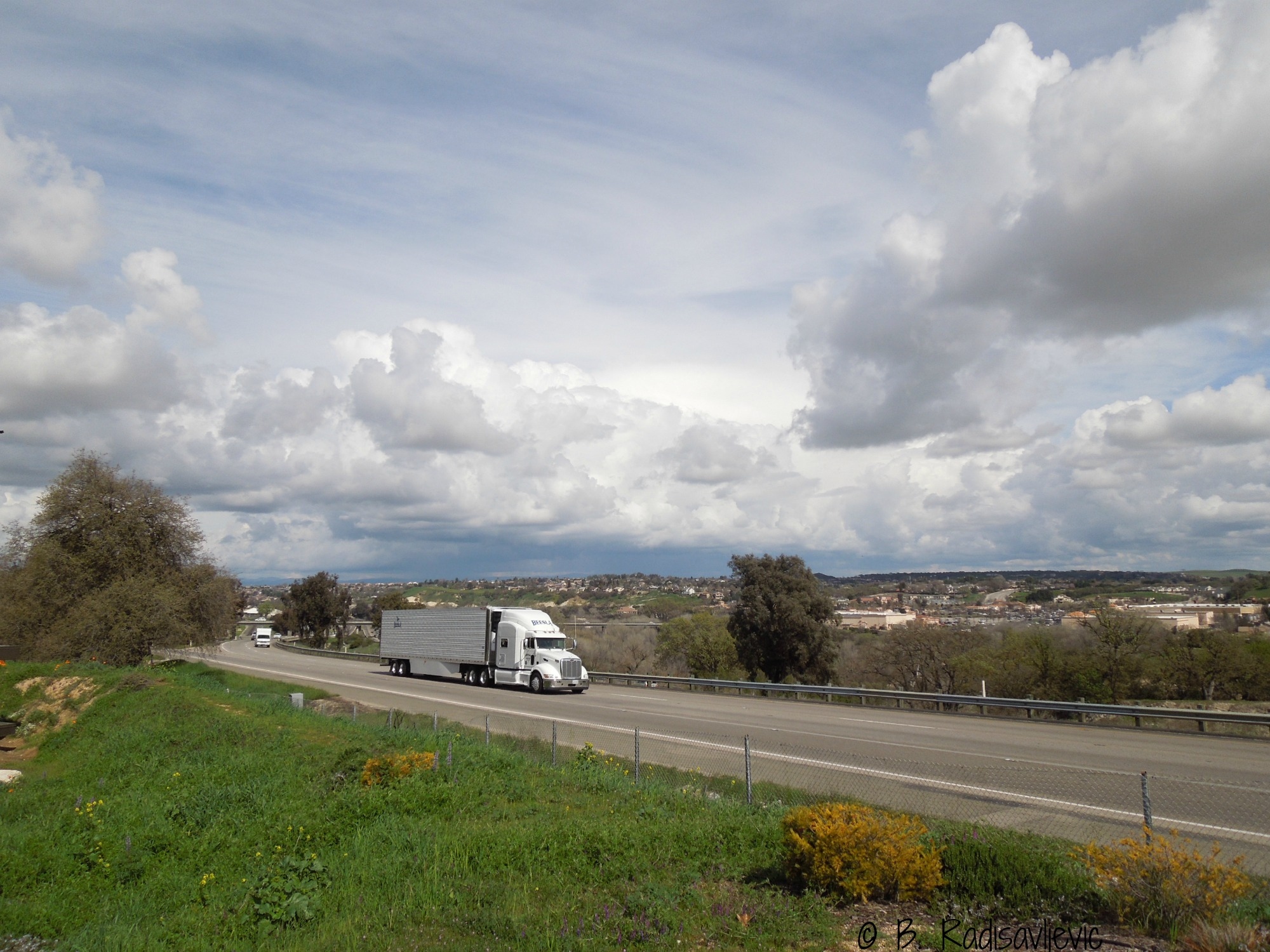 Big Rig on Highway 101, Paso Robles, CA