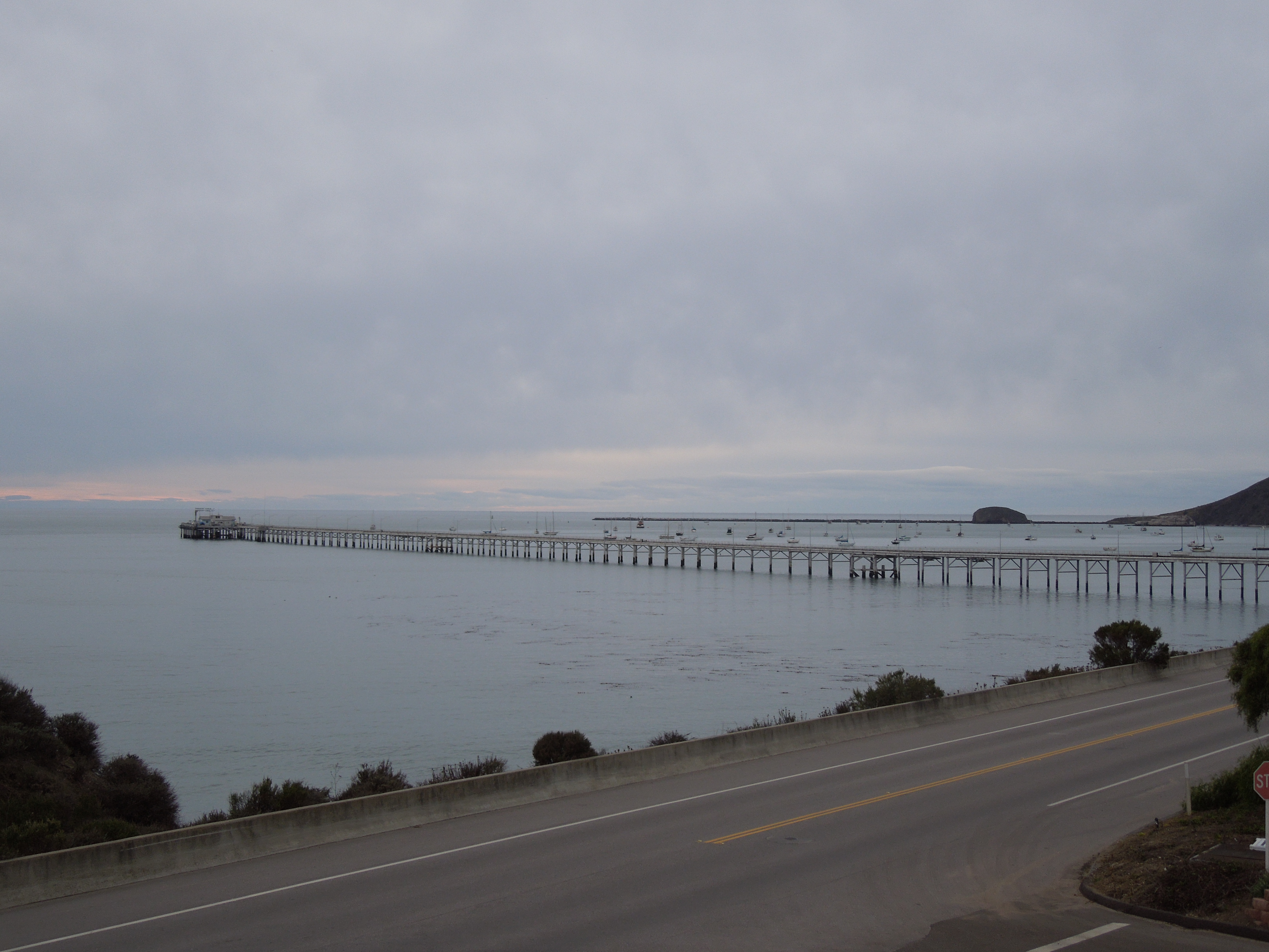 Piers at Avila Beach, California on a Cloudy December Day