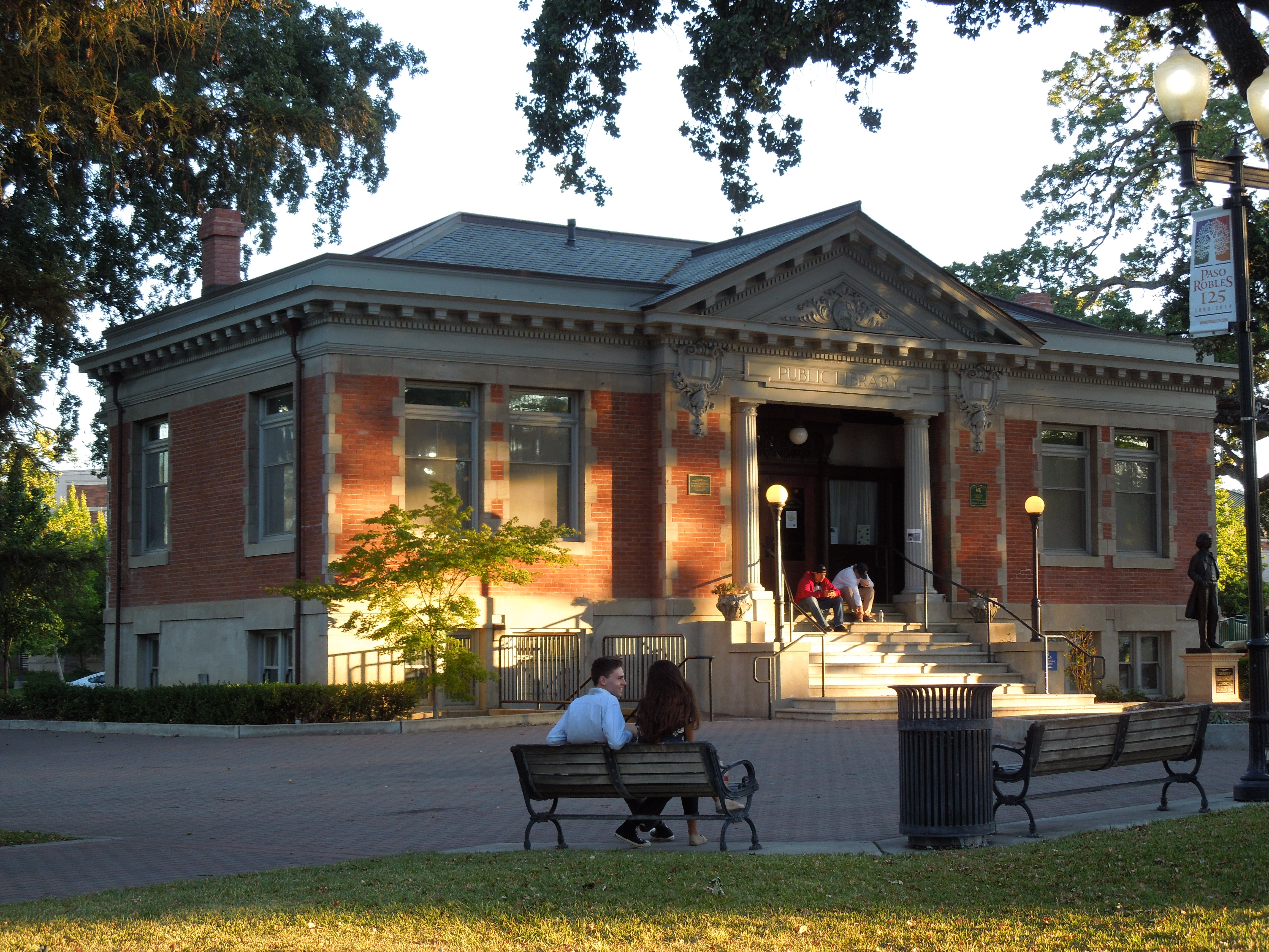 Old Carnegie Library Building in Paso Robles City Park