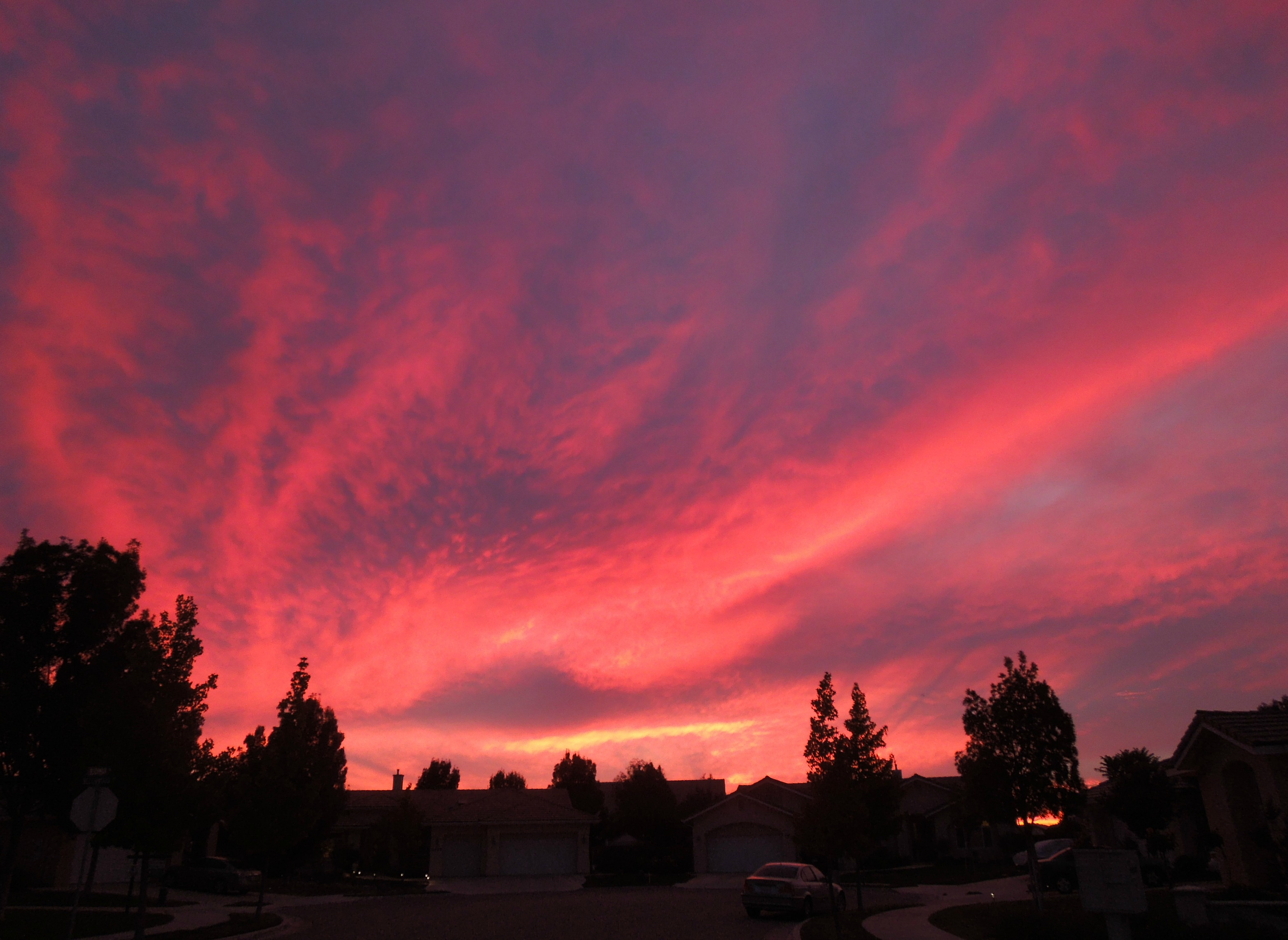 Red Sunset in Paso Robles, California