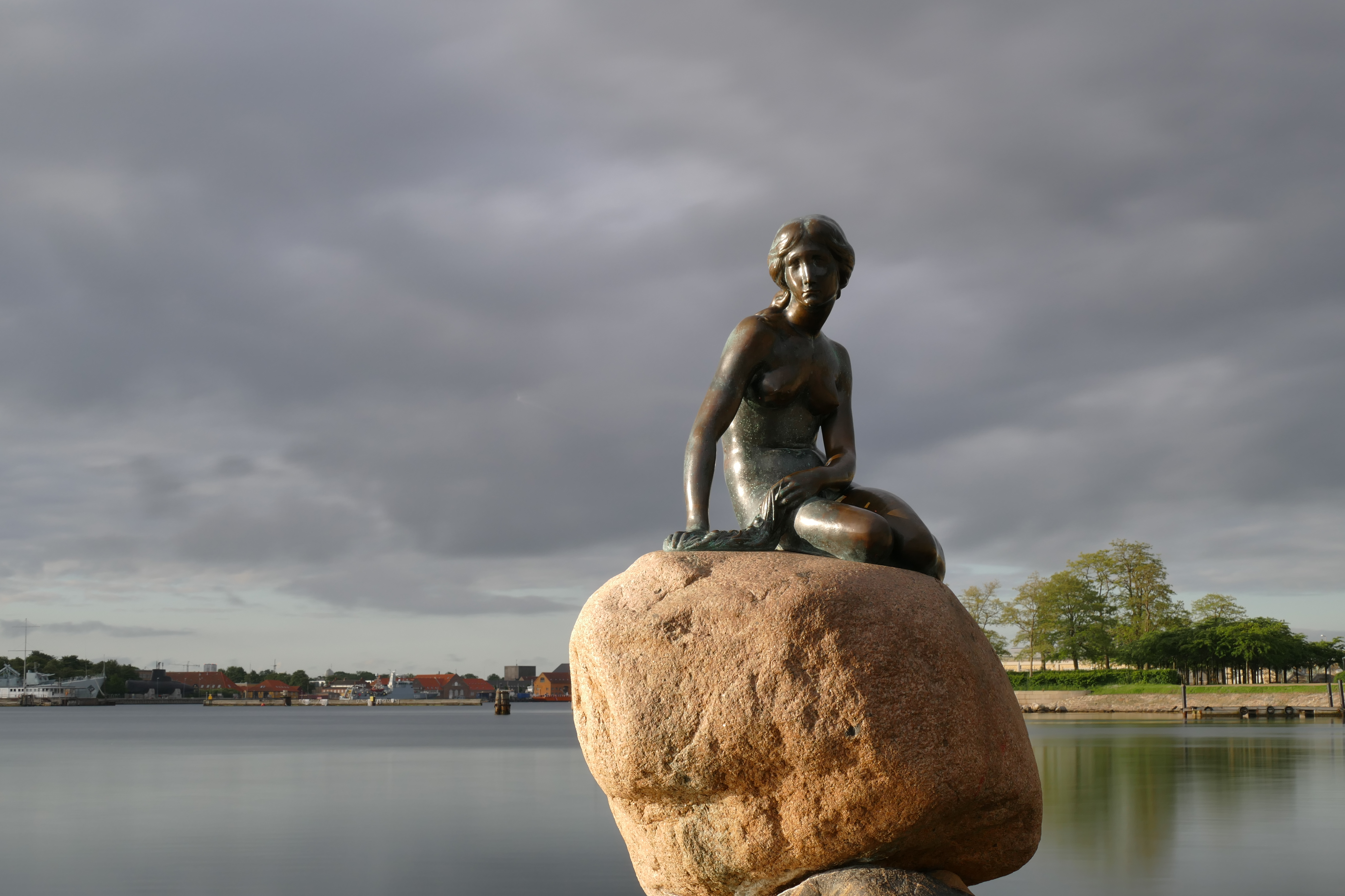 Little Mermaid in Copenhagen during Sunrise