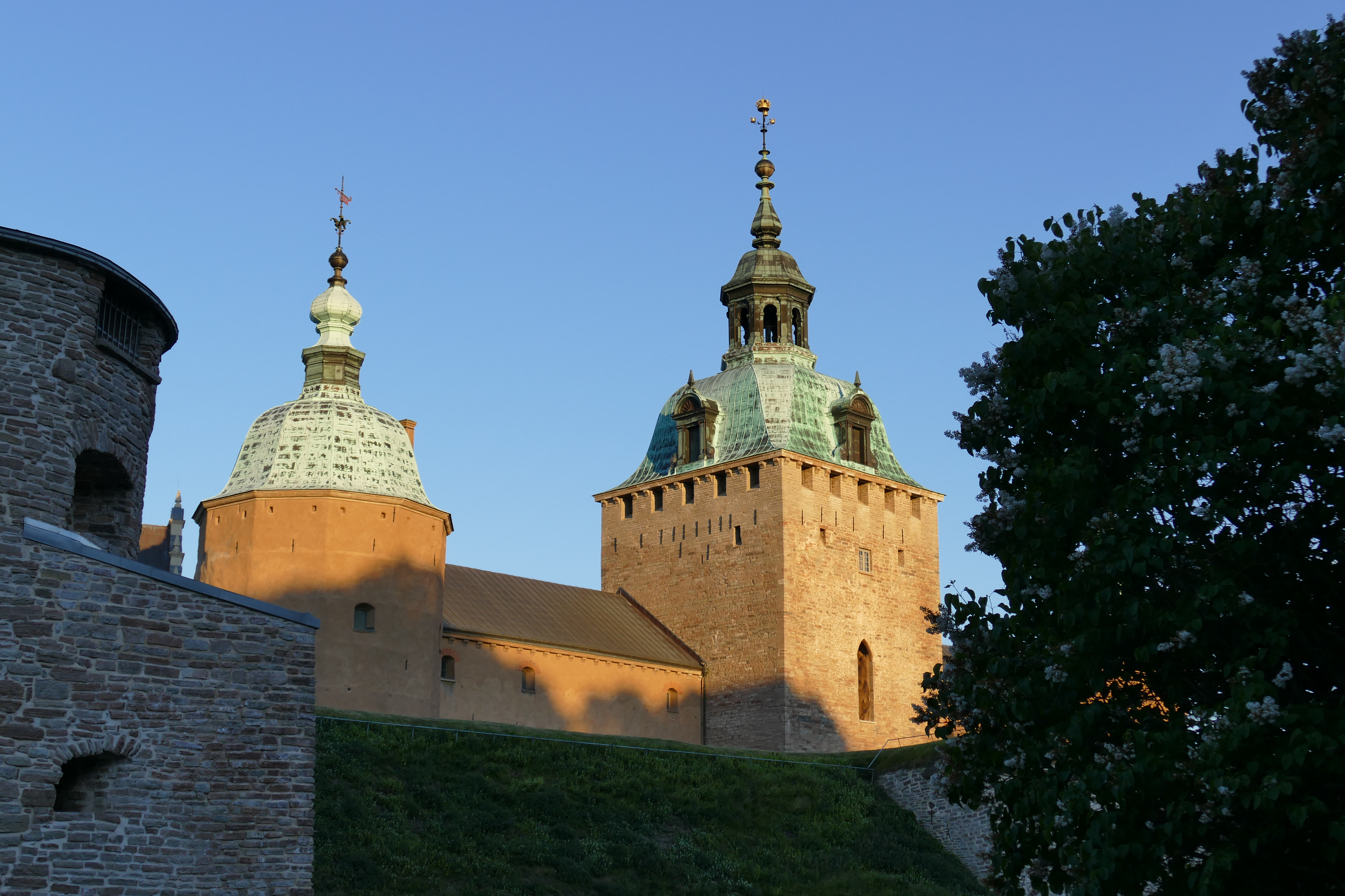 Detail of Kalmar Castle during the golden hour